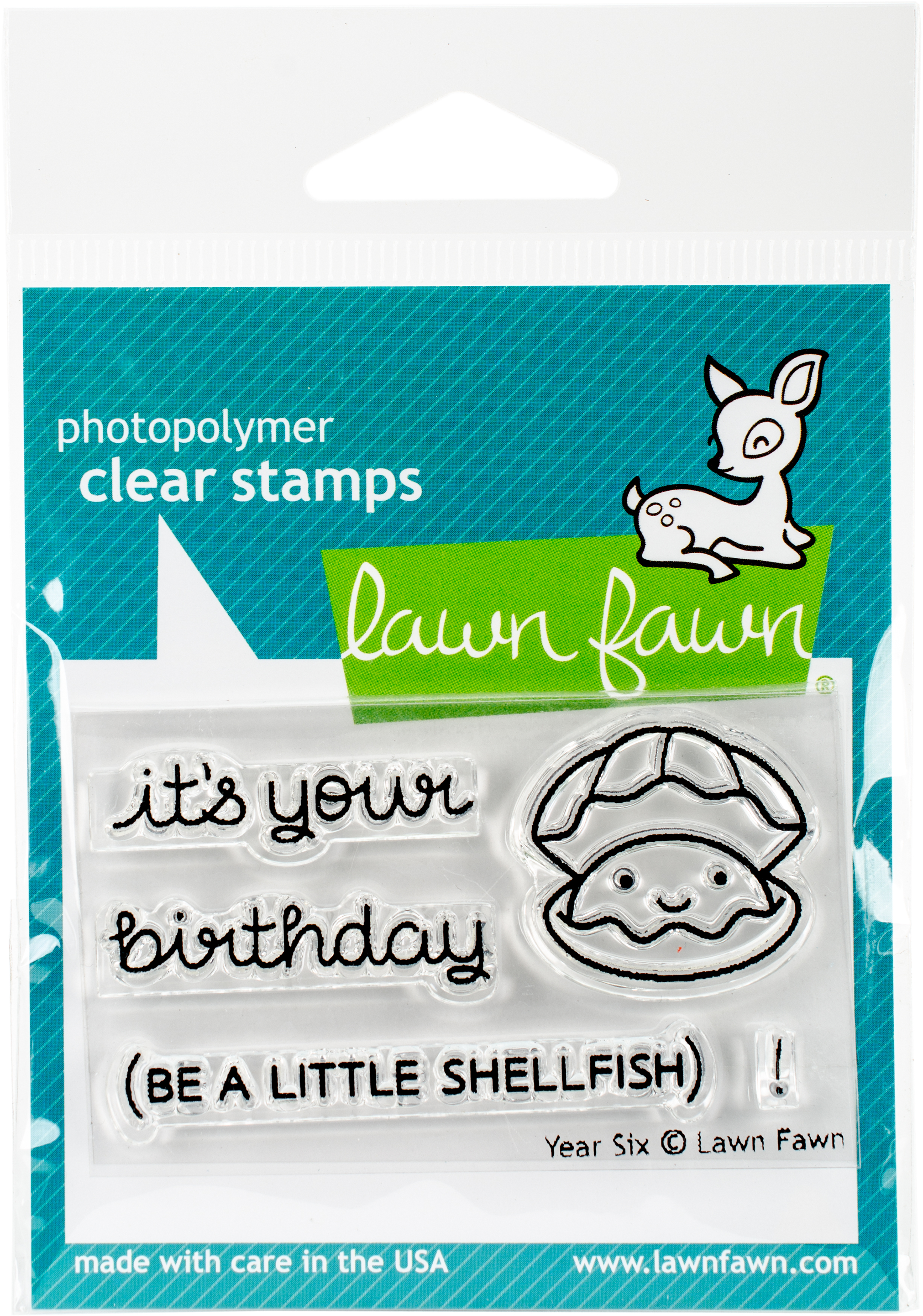 Lawn Fawn Clear Stamps 3X2-Year Six