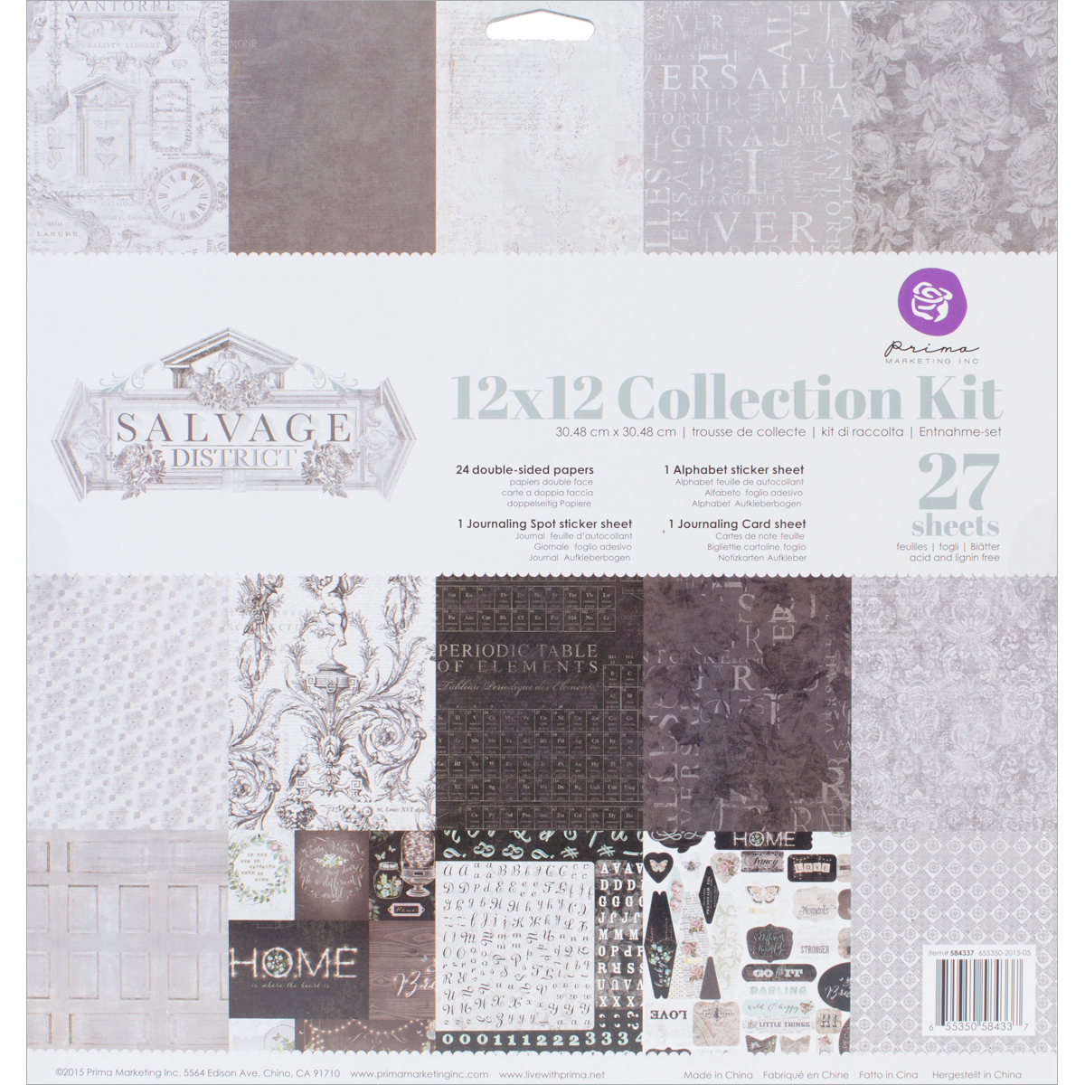 Prima Marketing Collection Kit 12X12-Salvage District