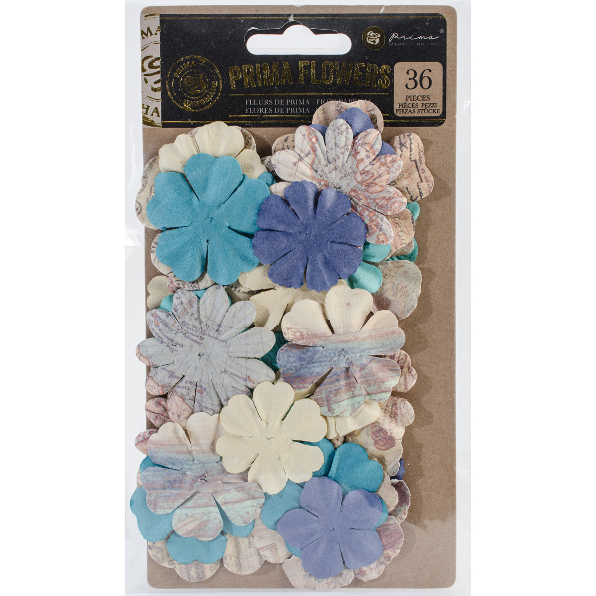 Prima Marketing Mulberry Paper Flowers  -Port Of Monaco/French Riviera, 36/Pkg