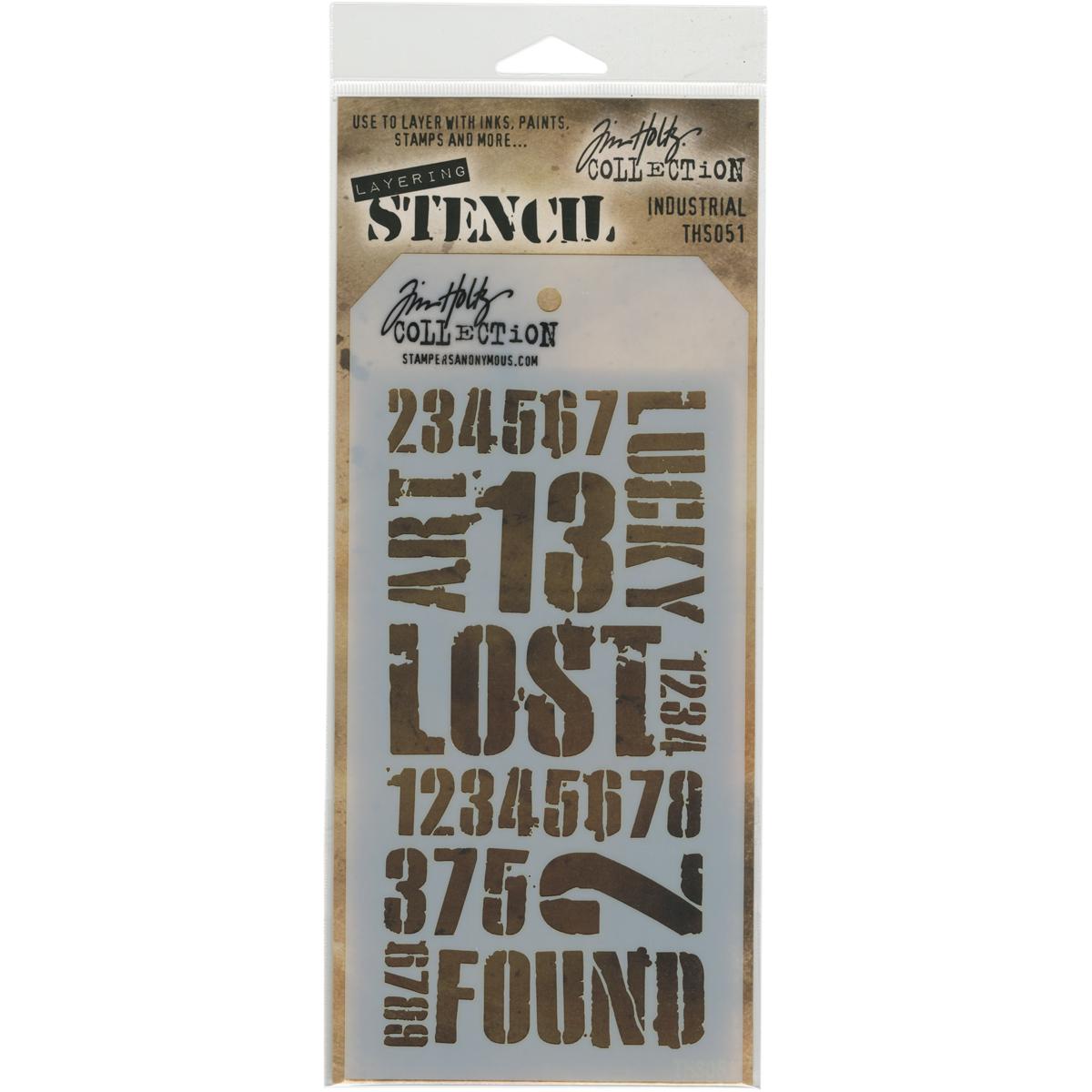Tim Holtz Layered Stencil 4.125X8.5-Industrial
