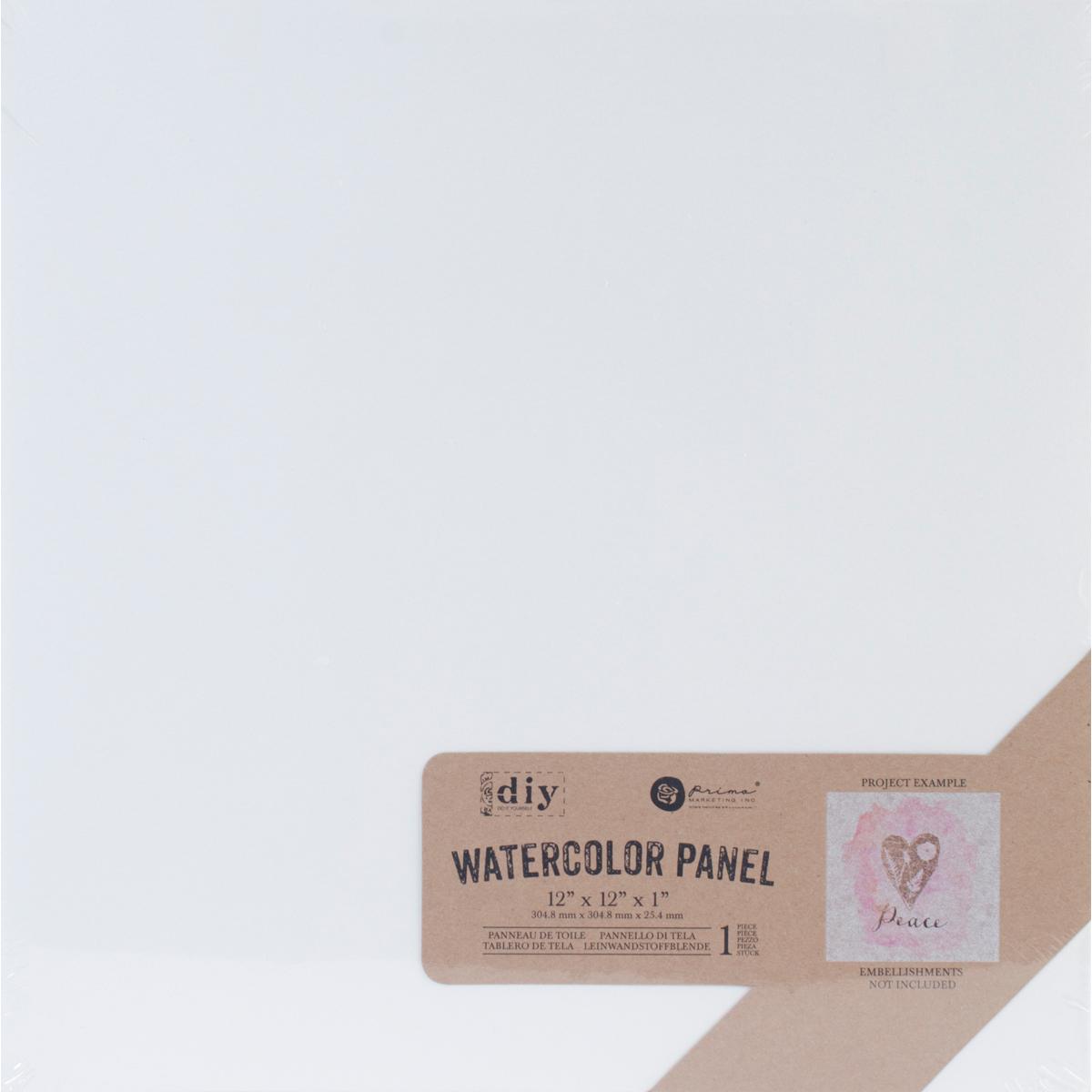 Watercolour Panel 12x12