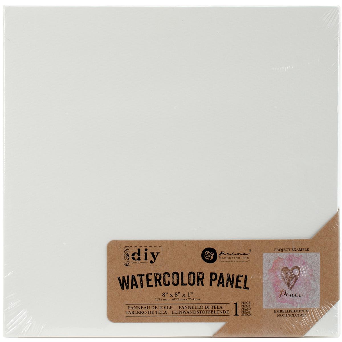 Prima Marketing  DIY Watercolor Canvas Panel-8X8