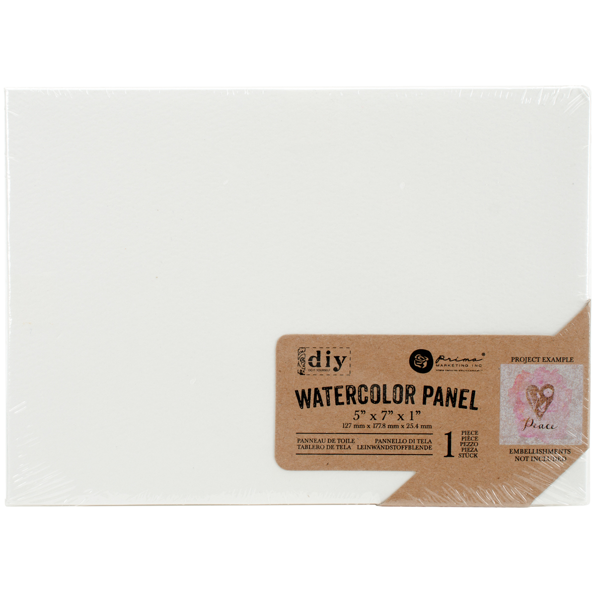 Prima Marketing  DIY Watercolor Canvas Panel-4x 6