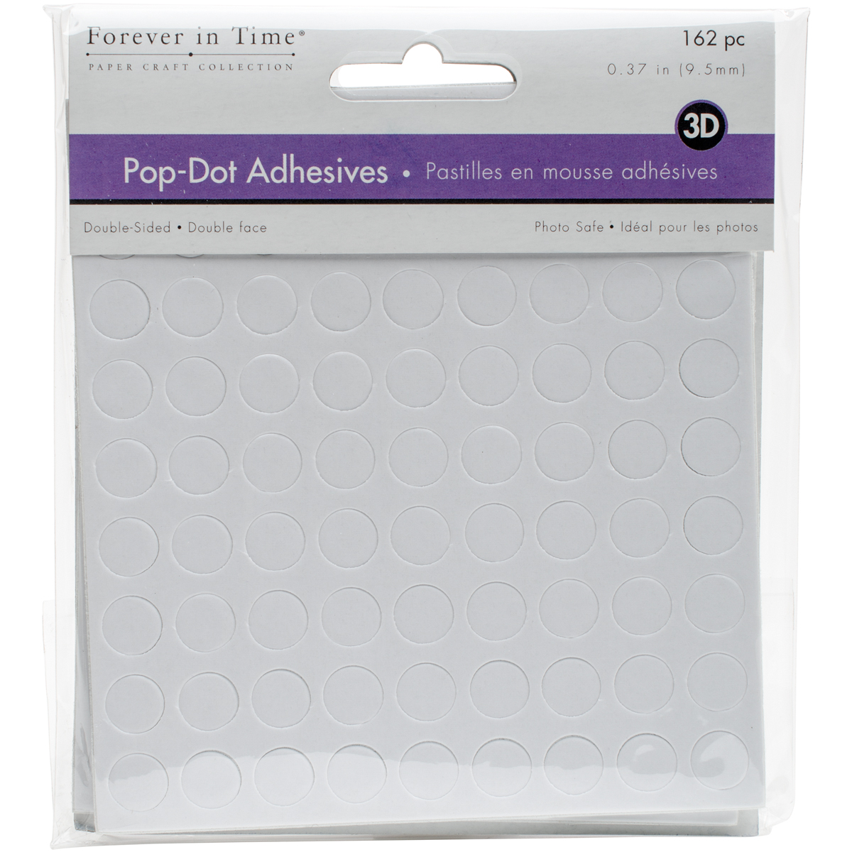 MultiCraft 3D Pop Dots Dual-Adhesive Foam Mounts 162/Pkg-.375 Round 3.5mm Thick