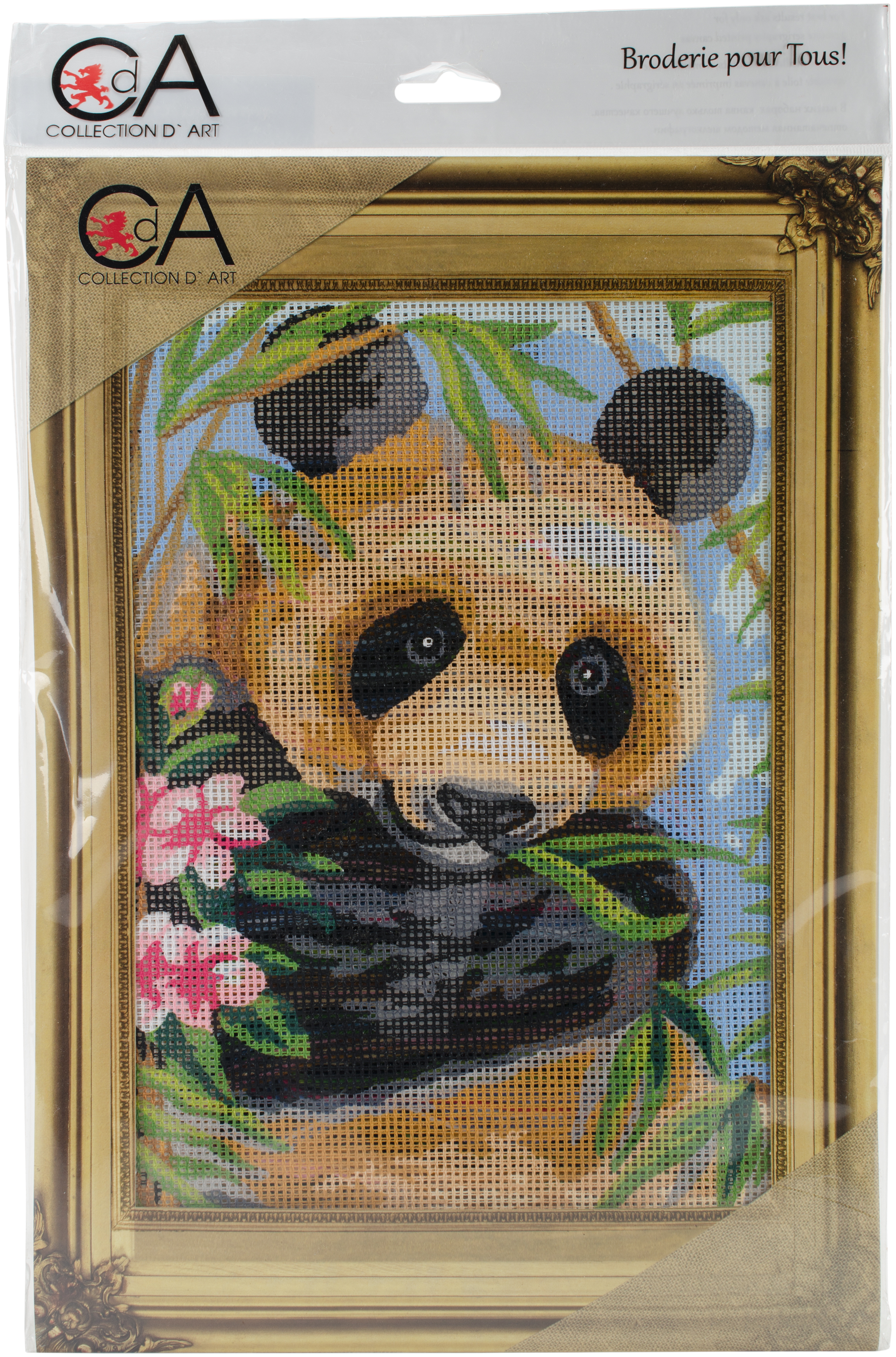 Collection D'Art Stamped Needlepoint Kit 38X24cm-Panda