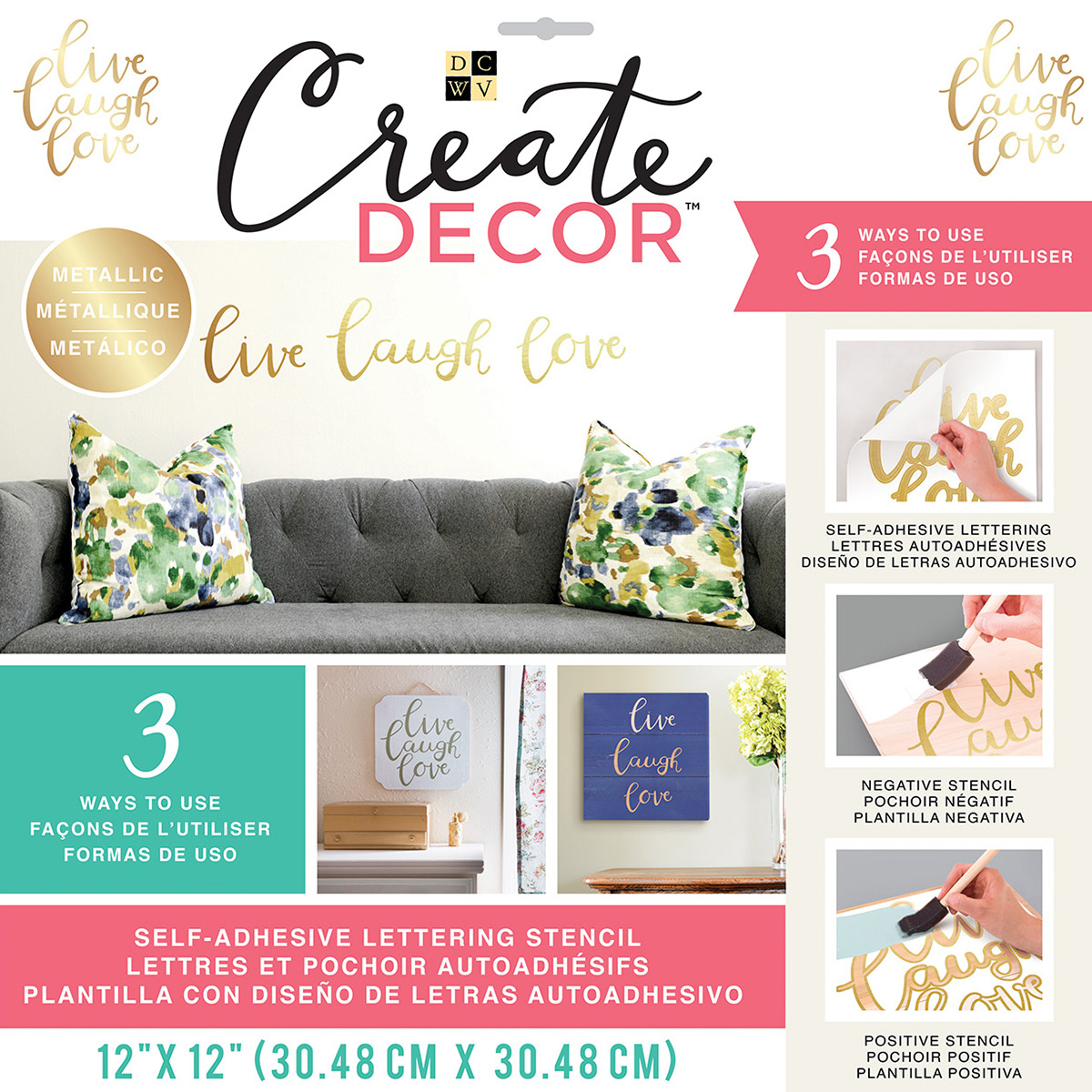 LIVE LAUGH LOVE - CREATE DECOR STENCIL