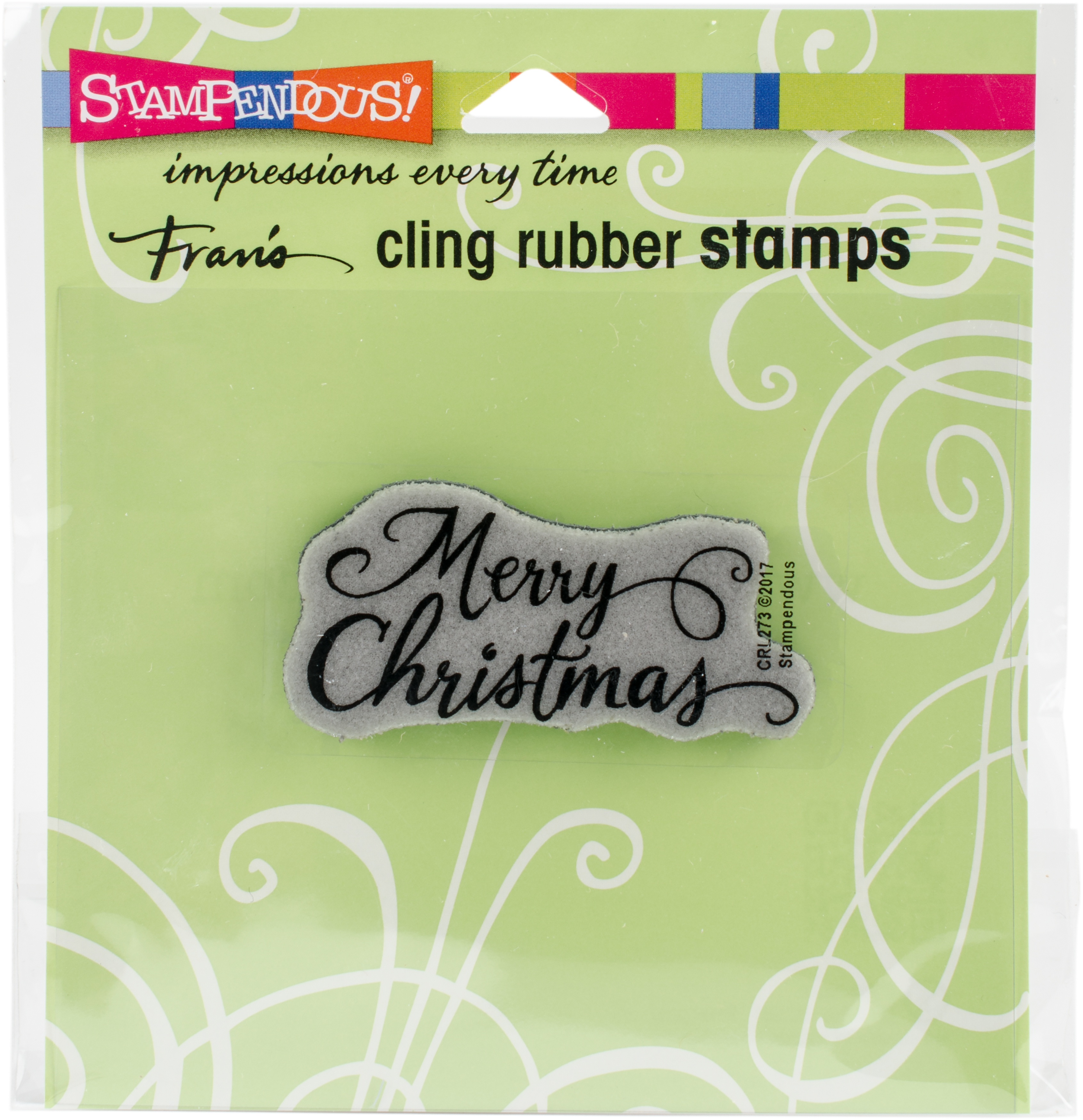 ^Stampendous Cling Stamp - Merry Scrolls (CLEARANCE)
