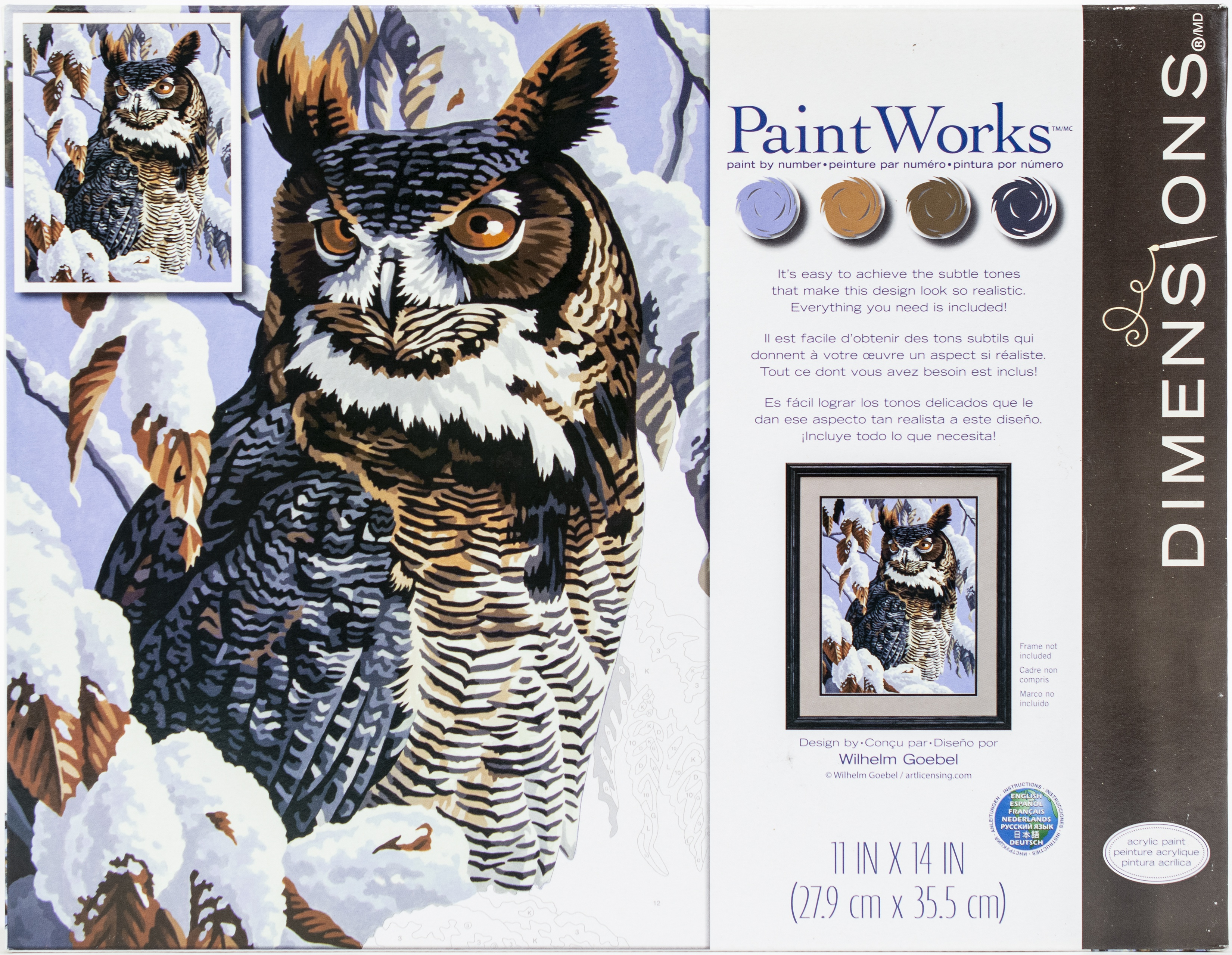 Paint Works Paint By Number Kit 11X14-Winter Watch