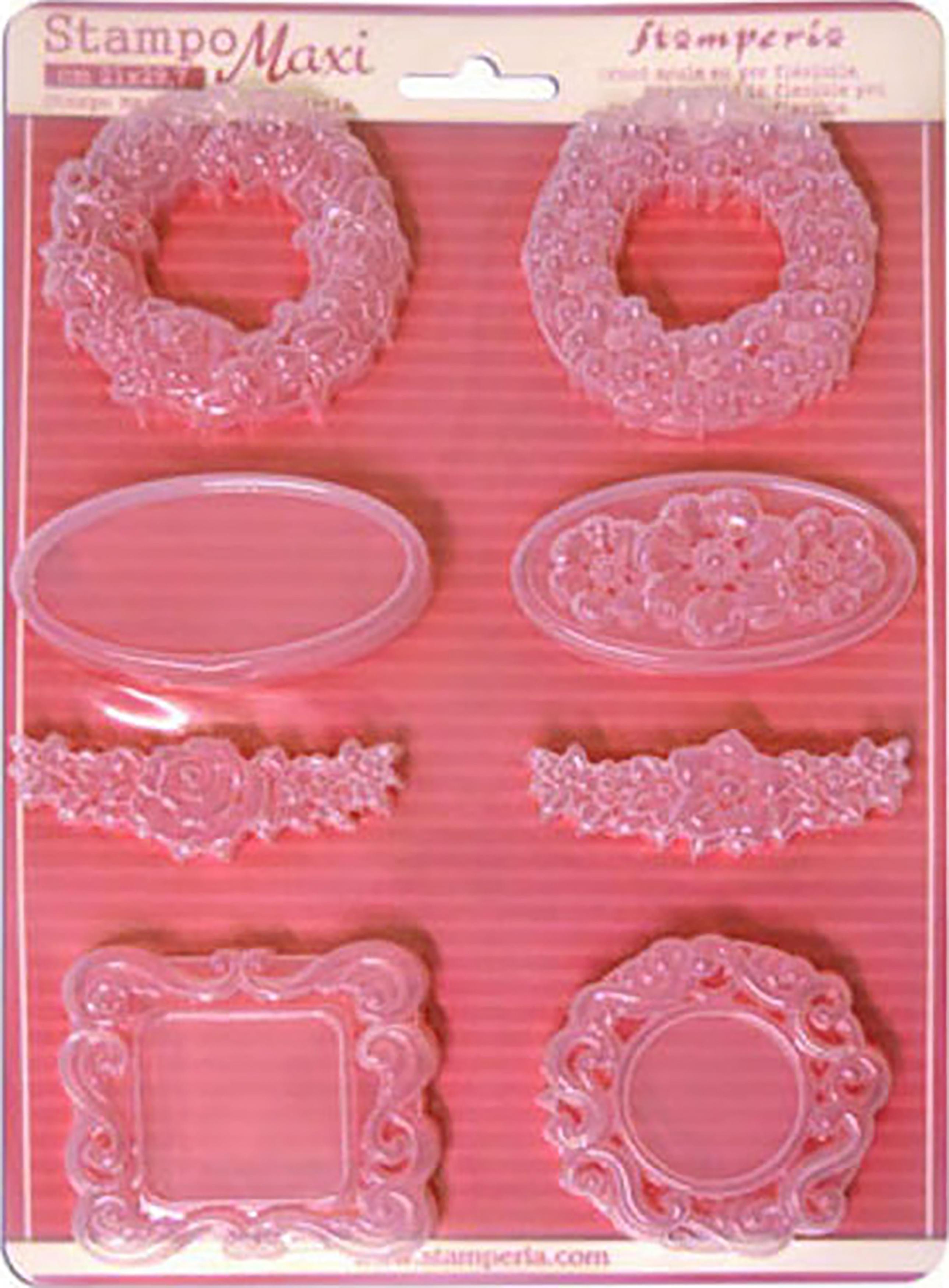 Stamperia Soft Maxi Mould 8.5X11.5-Garland & Frames