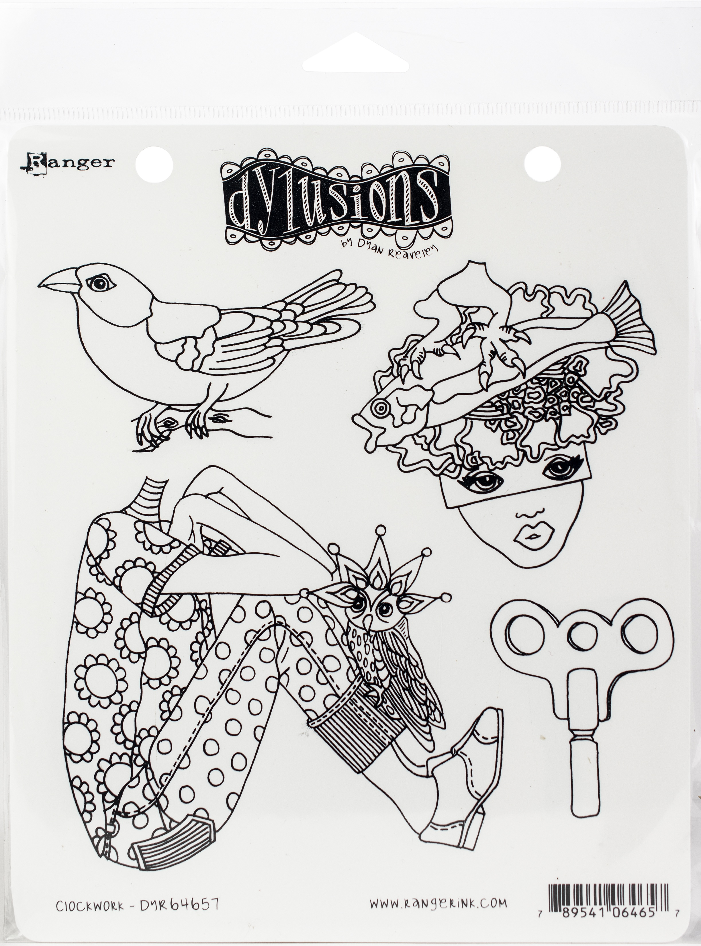 Dyan Reaveley's Dylusions Cling Stamp Collections 8.5X7-Clockwork