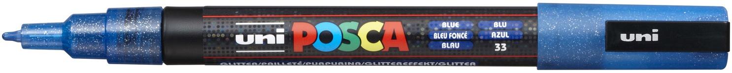 POSCA 3M Fine Bullet Tip Pen-Glitter Blue