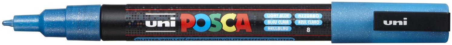 POSCA - 3M Fine Bullet Tip Pen - Glitter Light Blue