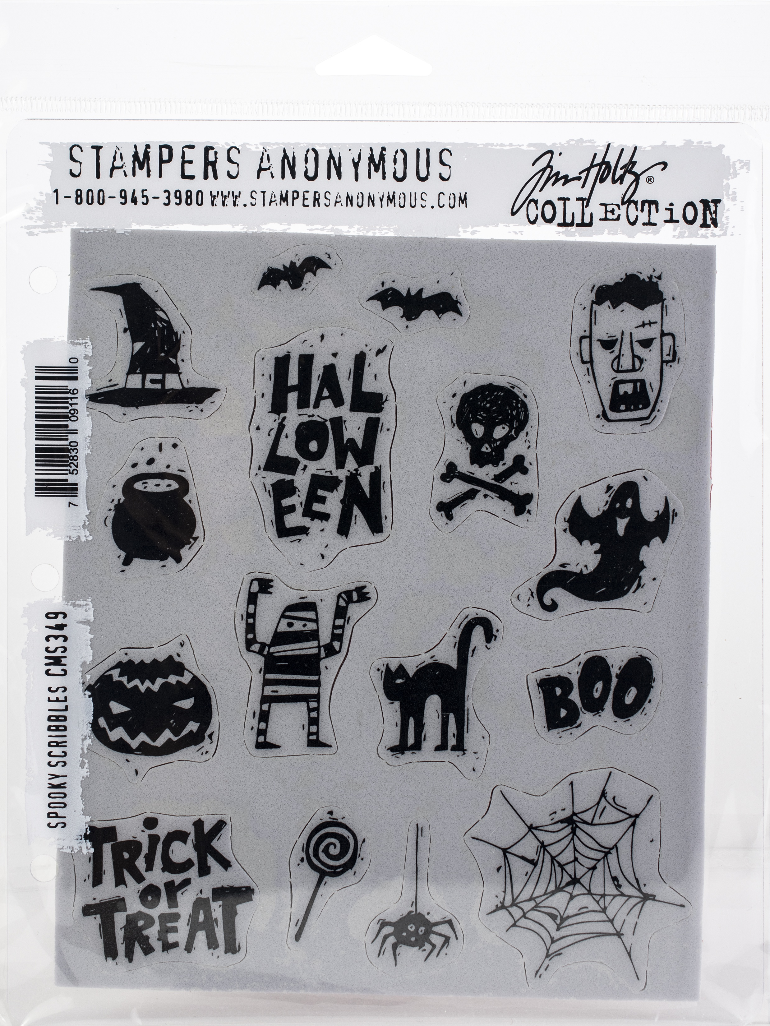 Spooky Scribbles- Cling Stamps