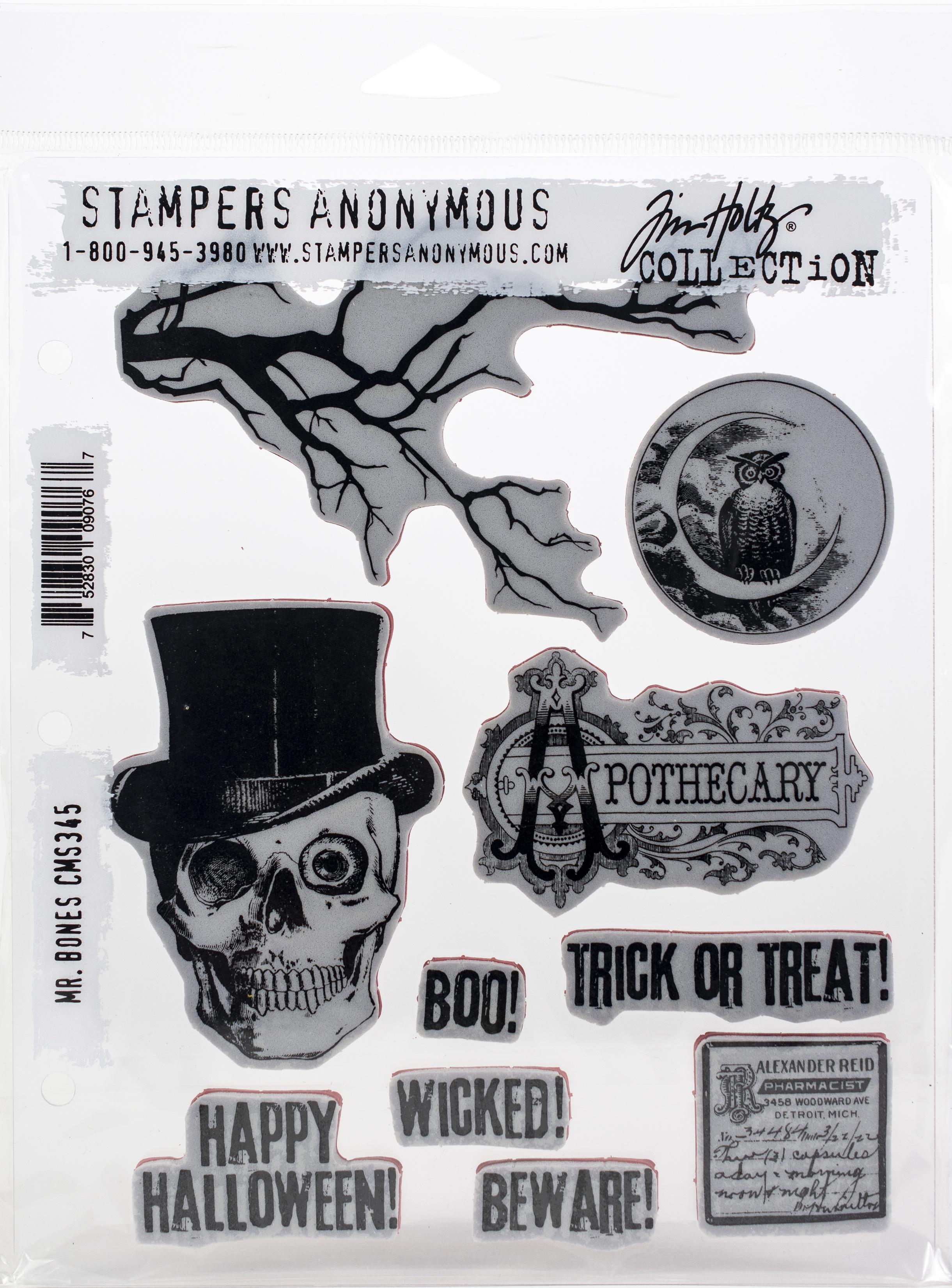 SA - TH Mr. Bones Cling Stamp