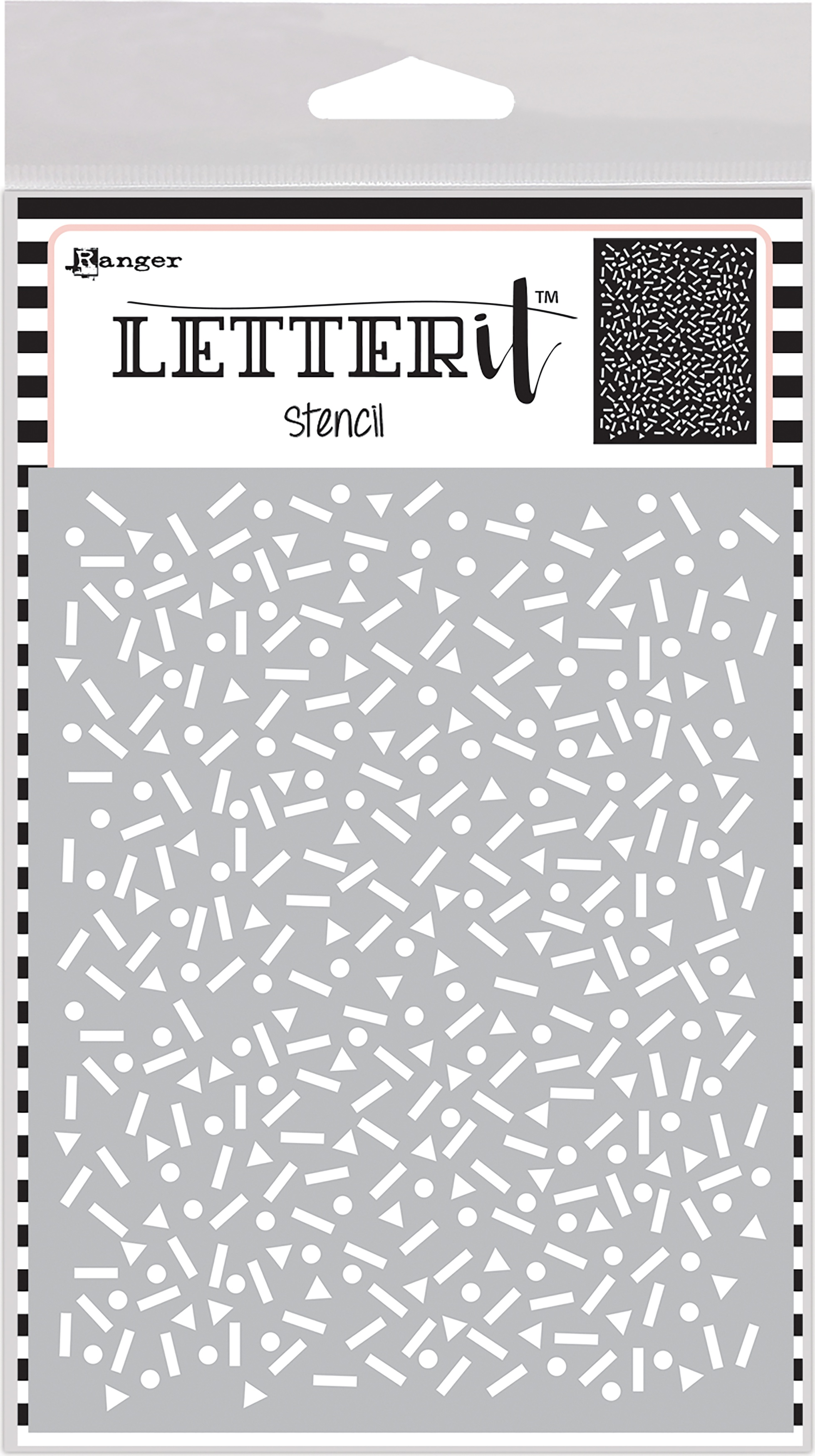 Ranger Letter It Background Stencil 4.75X6-Party Time