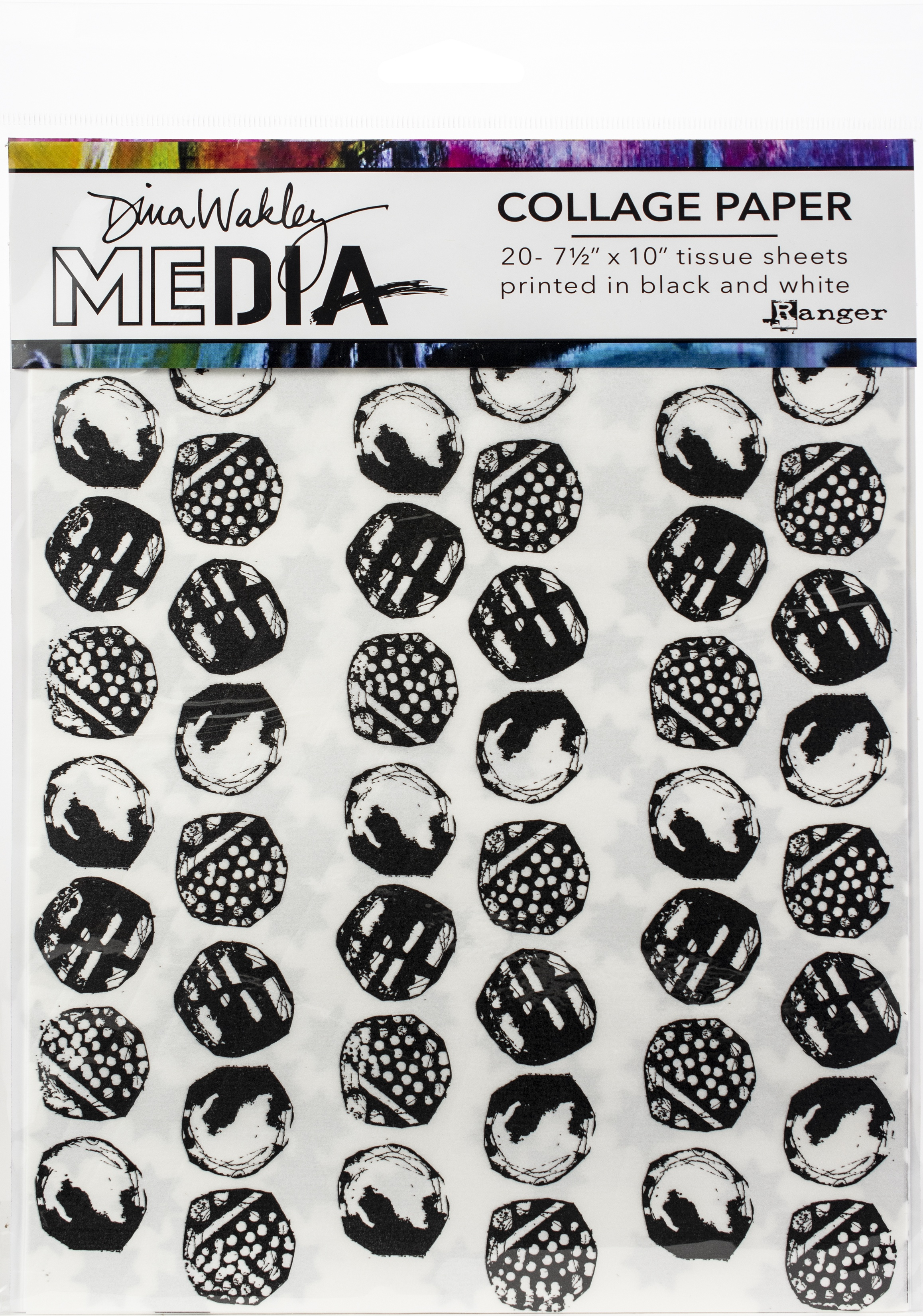 Dina Wakley Media Collage Tissue Paper  7.5X10 20/Pkg-Backgrounds