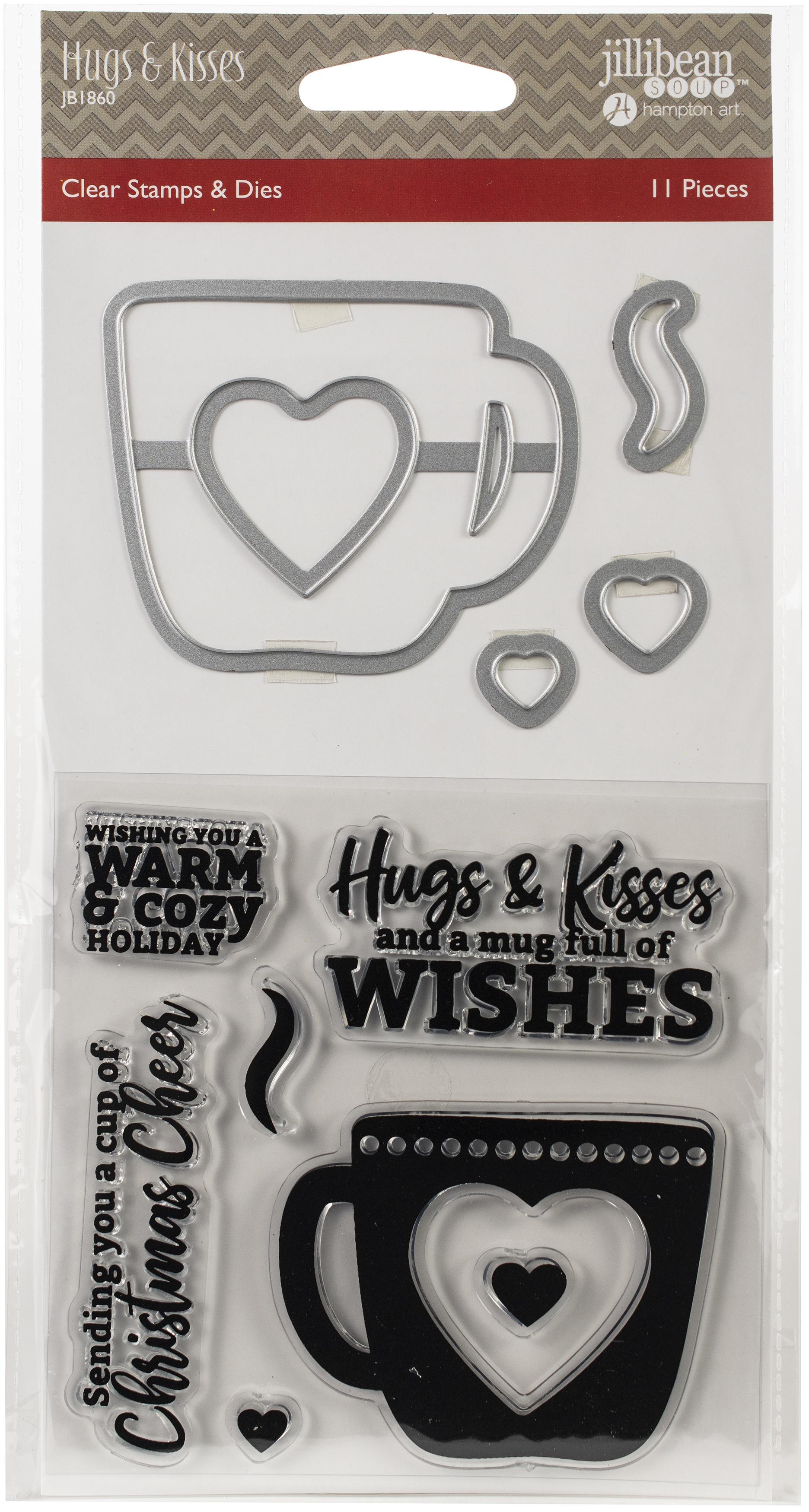 Jillibean Soup Shaker Clear Stamps & Die Set-Hugs & Kisses