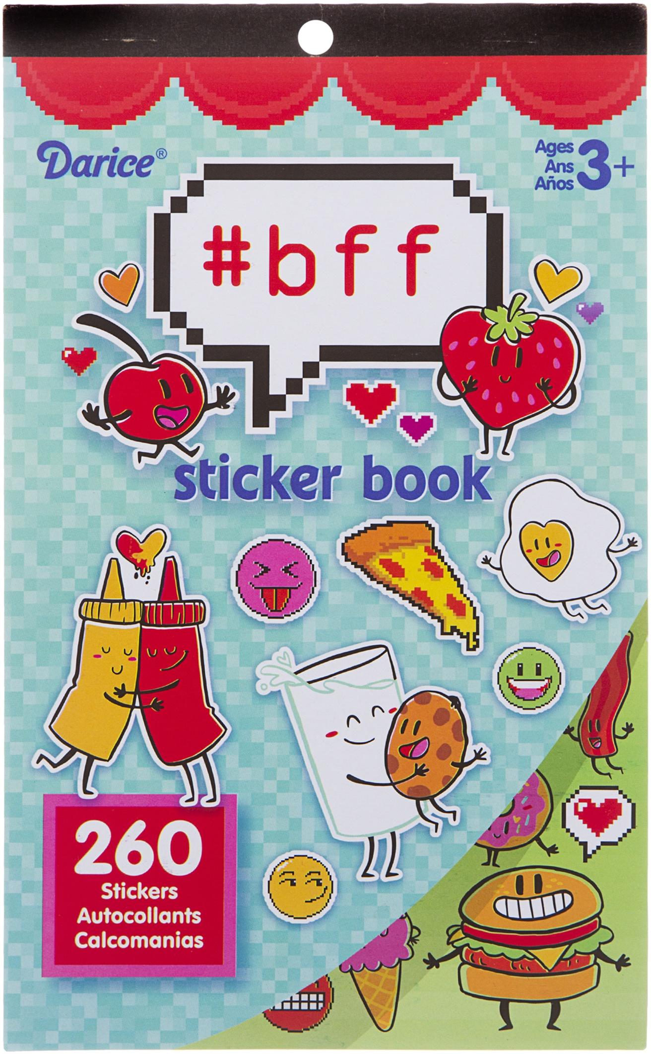Sticker Book 9.5X6-Hashtag BFF 260/Pkg