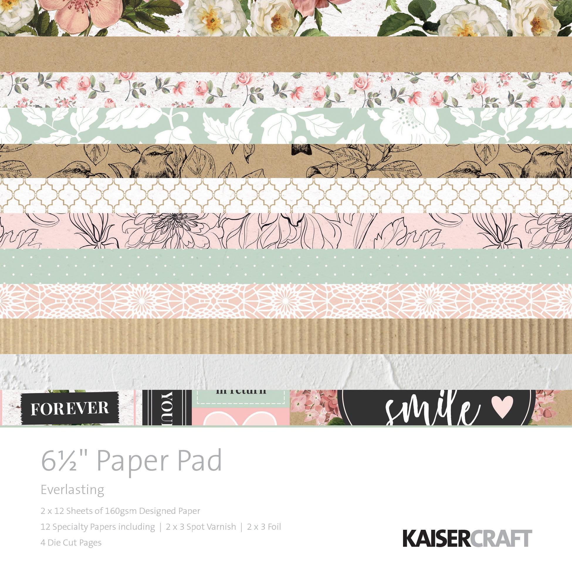 Kaisercraft Paper Pad 6.5X6.5 40/Pkg-Everlasting