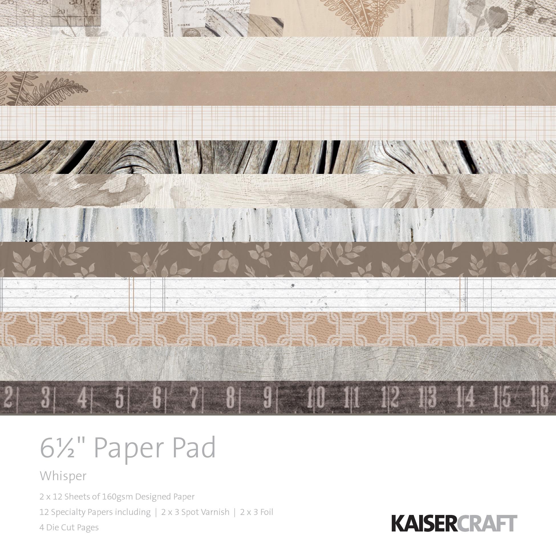 Kaisercraft Paper Pad 6.5X6.5 40/Pkg-Whisper