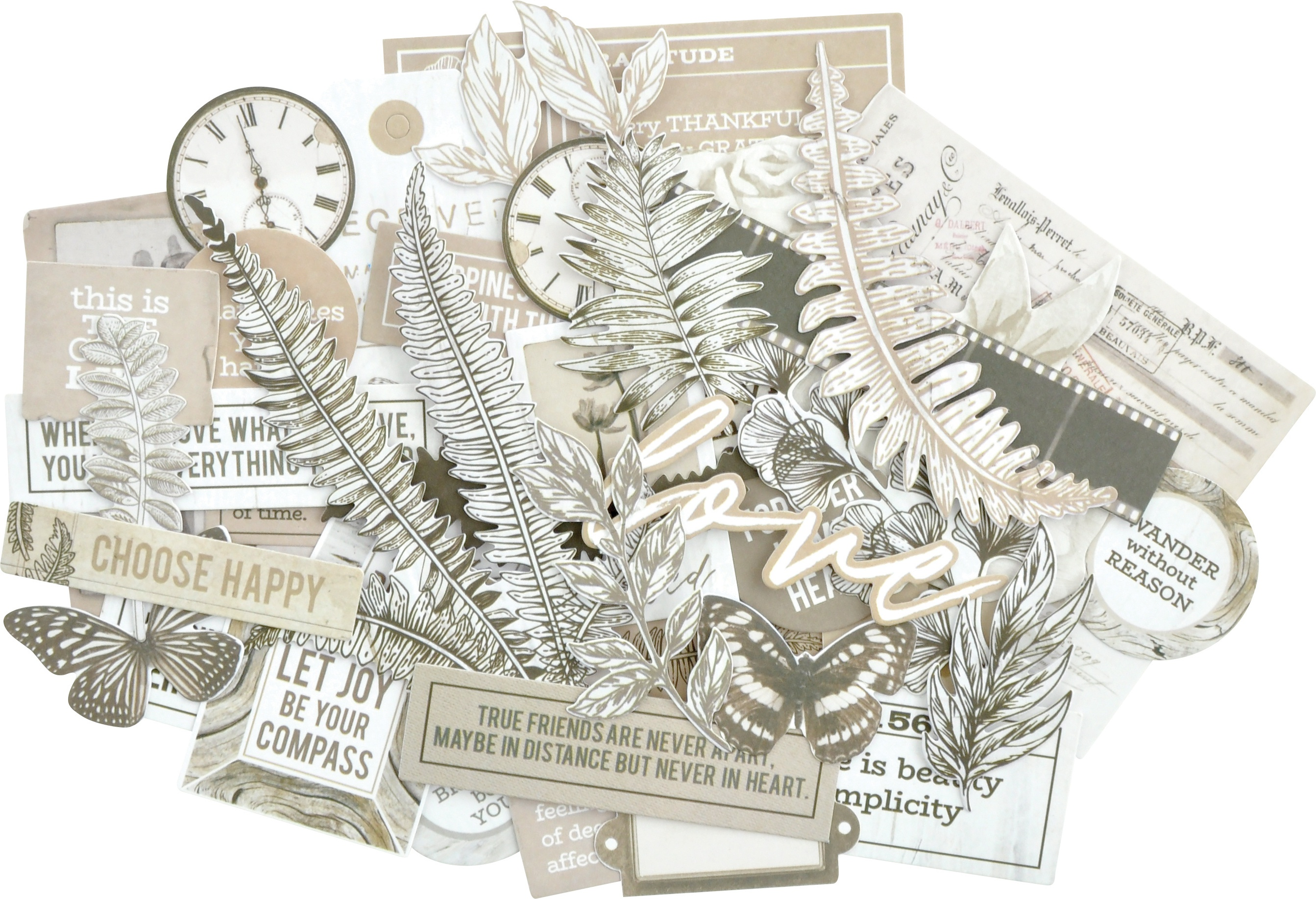 Kaisercraft Collectables Cardstock Die-Cuts-Whisper