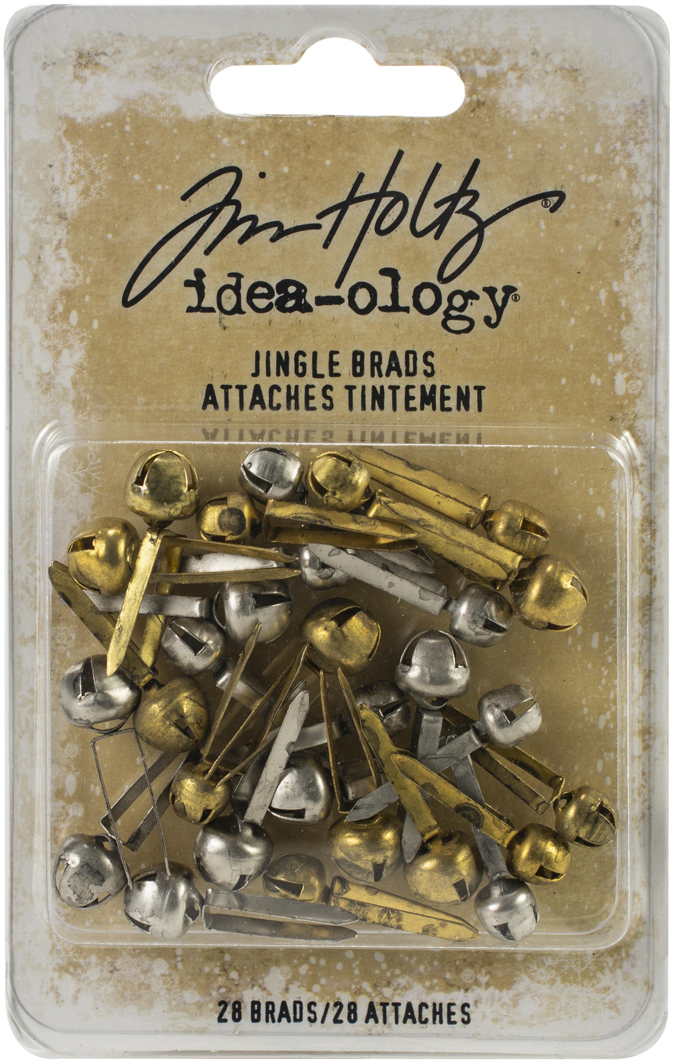 Idea-Ology Metal Jingle Brads 28/Pkg-Brass & Nickel