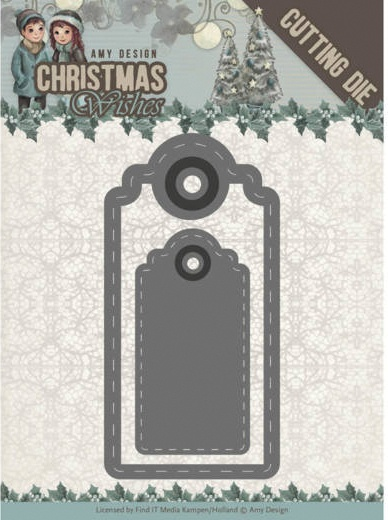 Find It Trading Amy Design Die-Wishing Labels, Christmas Wishes