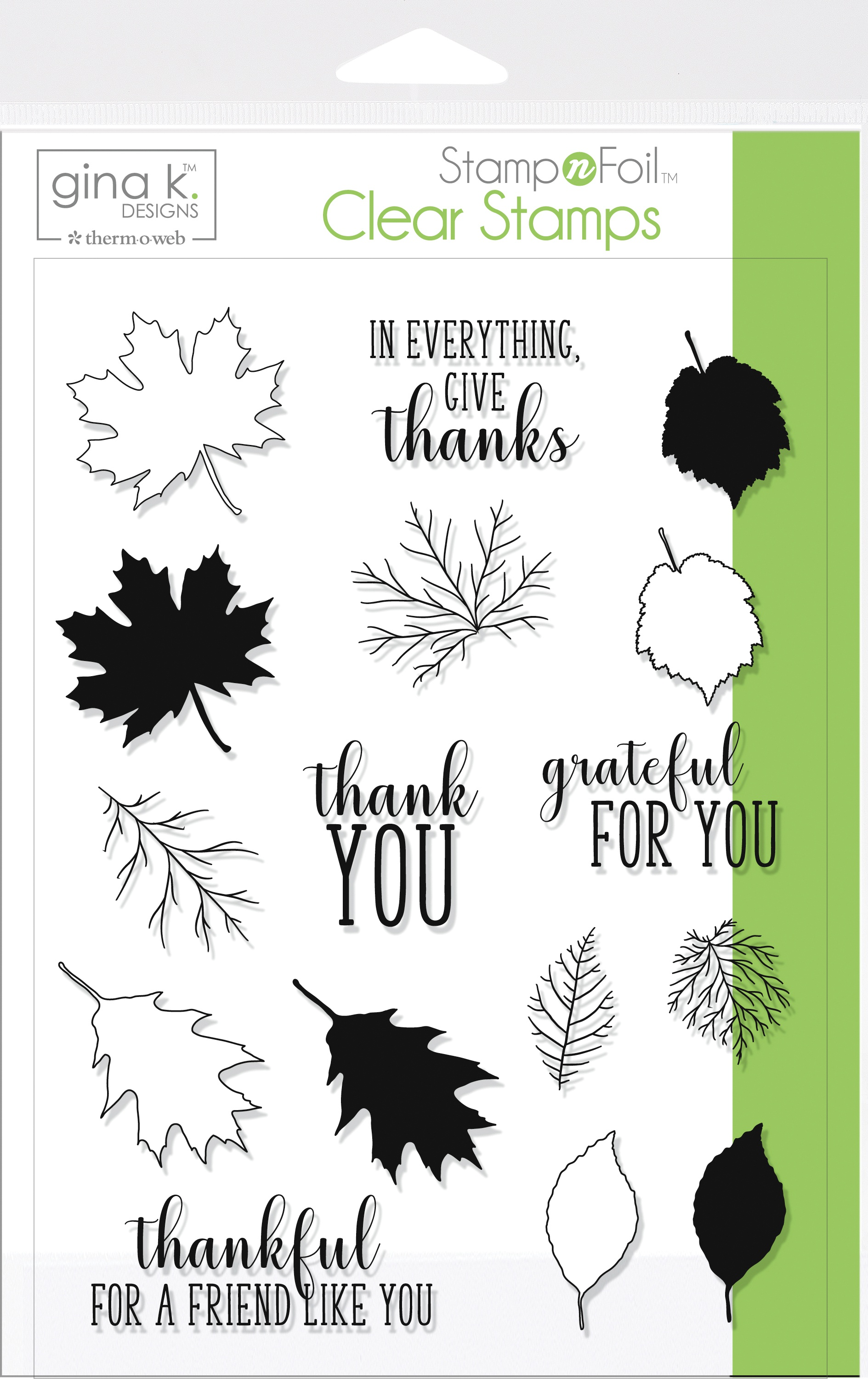 Thankfull Leaves Stamp