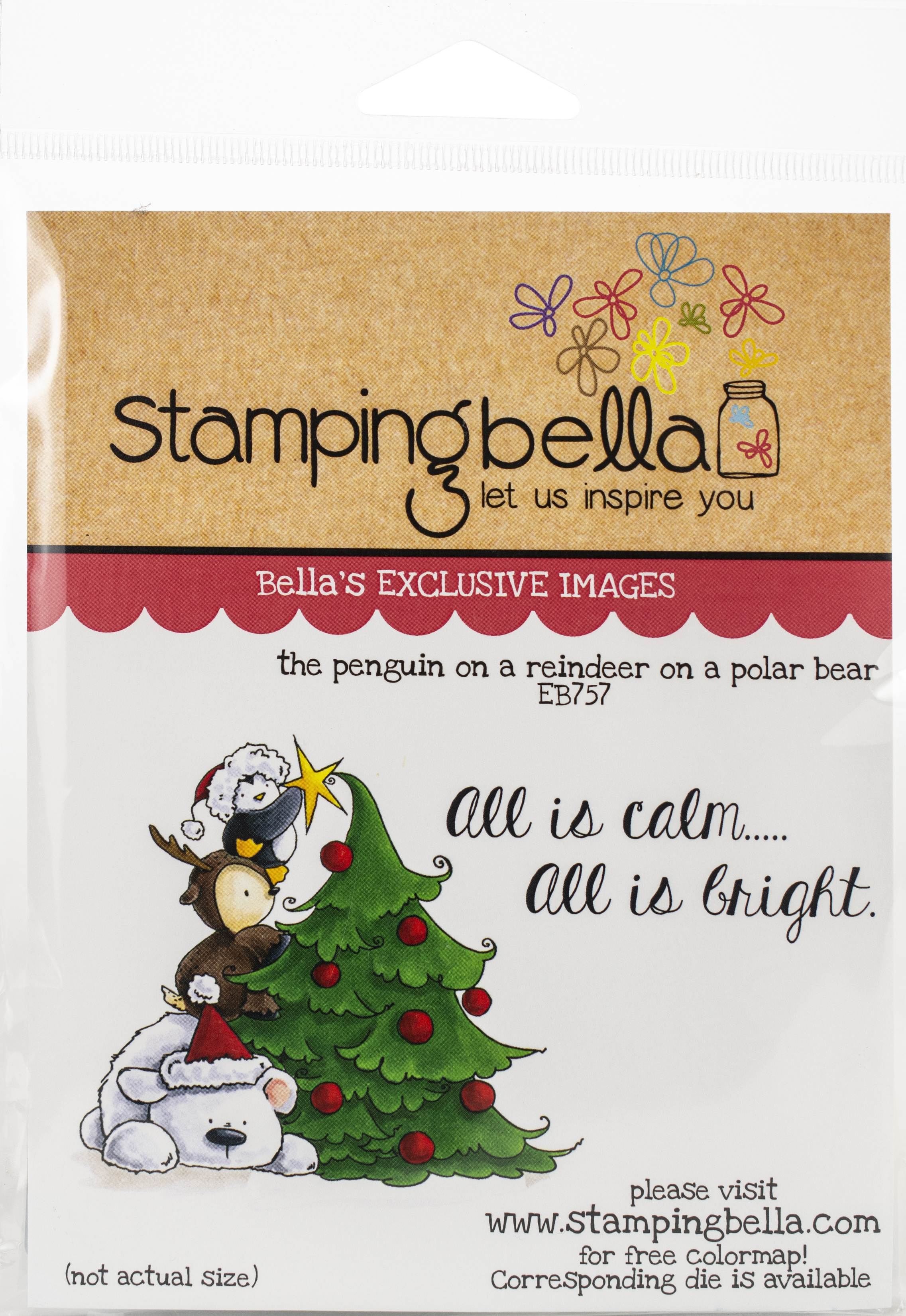 Stamping Bella Cling Stamps-The Penguin On A Reindeer On Polar Bear