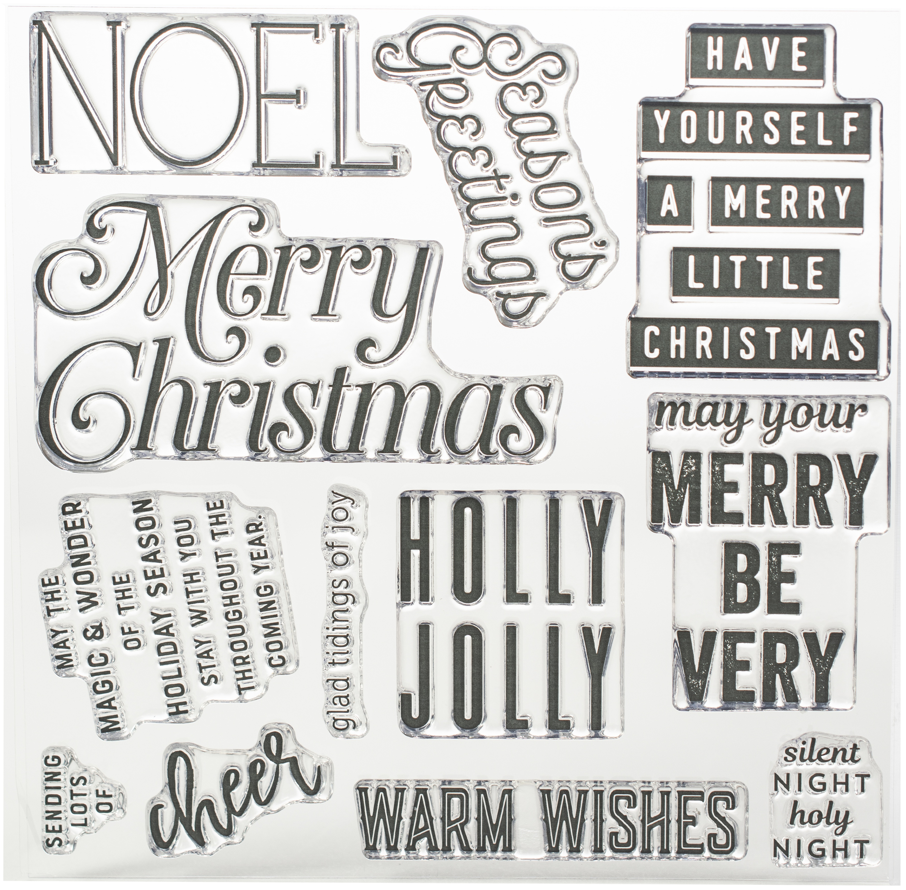 Concord & 9th Clear Stamps 6X6-Very Merry Sentiments