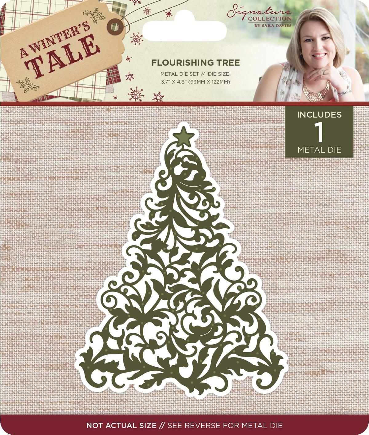 Sara Davies Signature A Winter's Tale Metal Die-Flourishing Tree