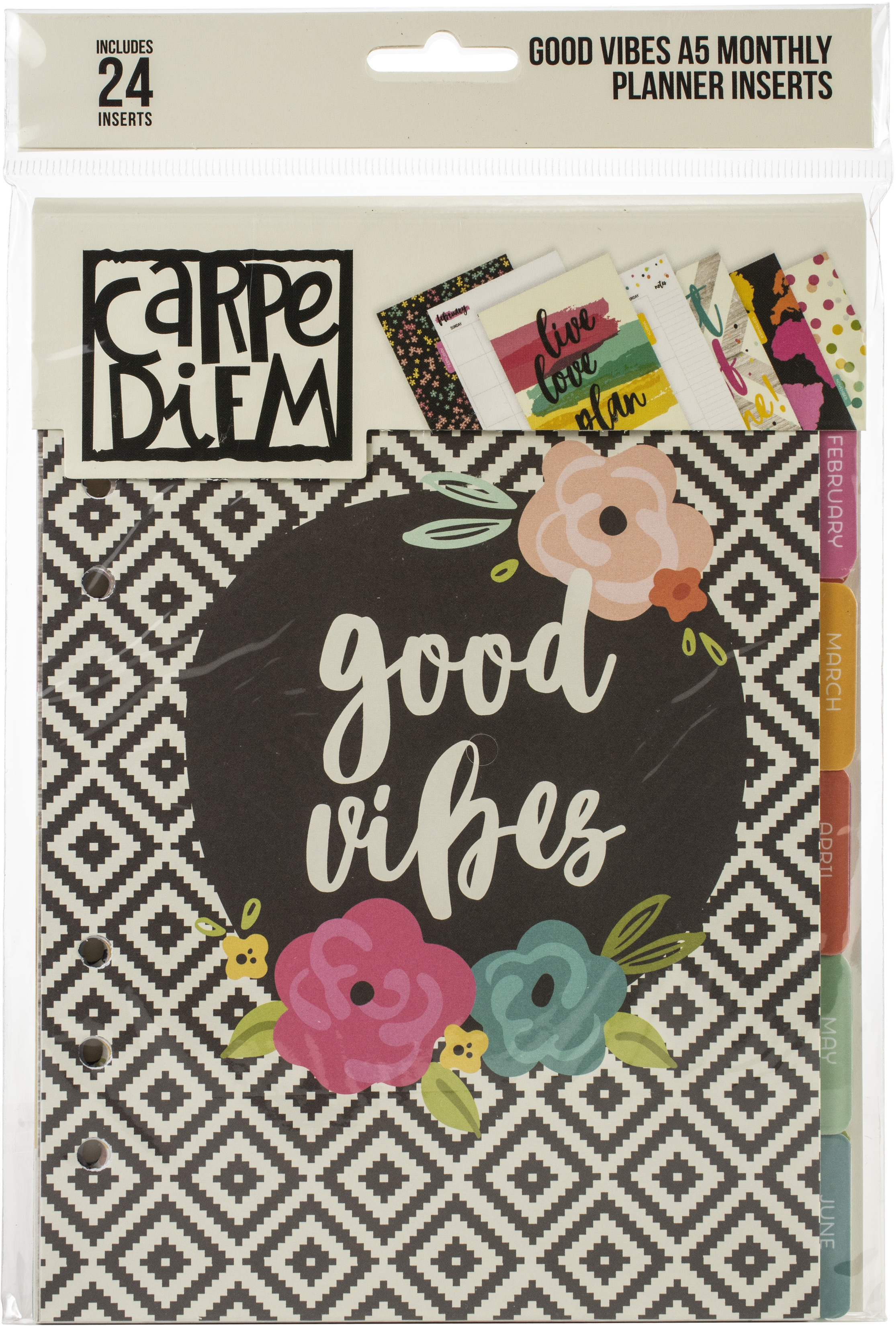 GOOD VIBES-CARPE DIEM A5 INSERT