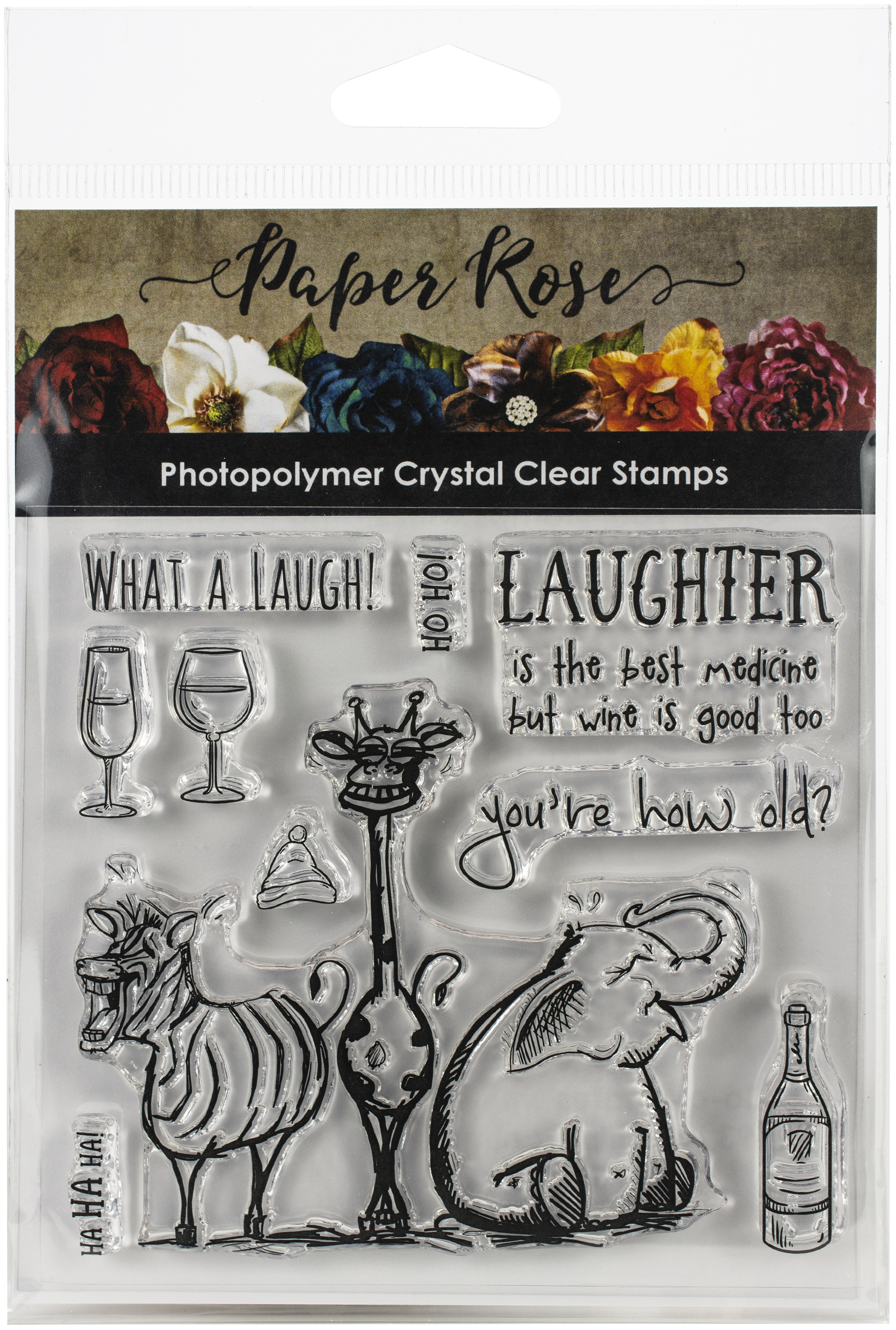Paper Rose Clear Stamps 4X4-Laughing Animals
