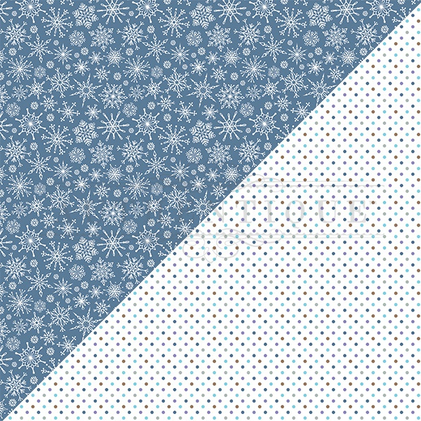 Frosted Double-Sided Cardstock 12X12-#1 Snowflakes