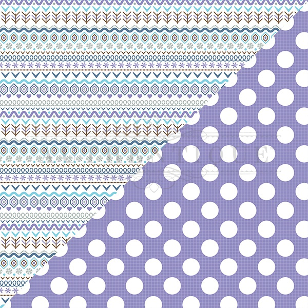 Frosted Double-Sided Cardstock 12X12-#4 Nordic