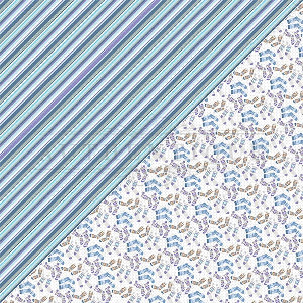 Frosted Double-Sided Cardstock 12X12-#5 Stripe