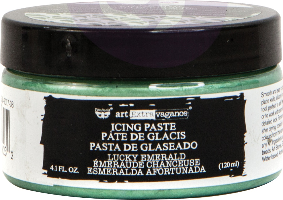 Finnabair Art Extravagance Icing Paste 120ml Jar-Lucky Emerald