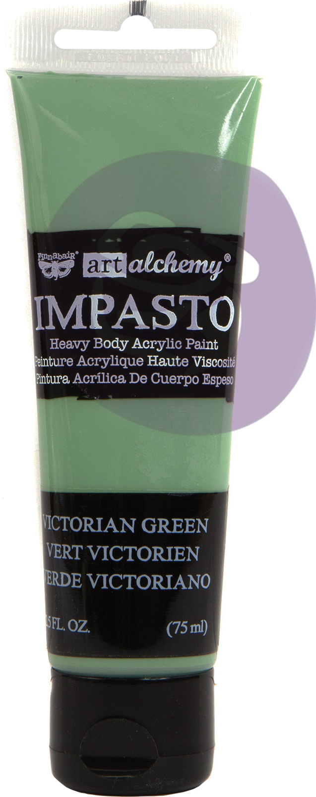 Finnabair Art Alchemy Impasto Paint 2.5 Fluid Ounces-Victorian Green