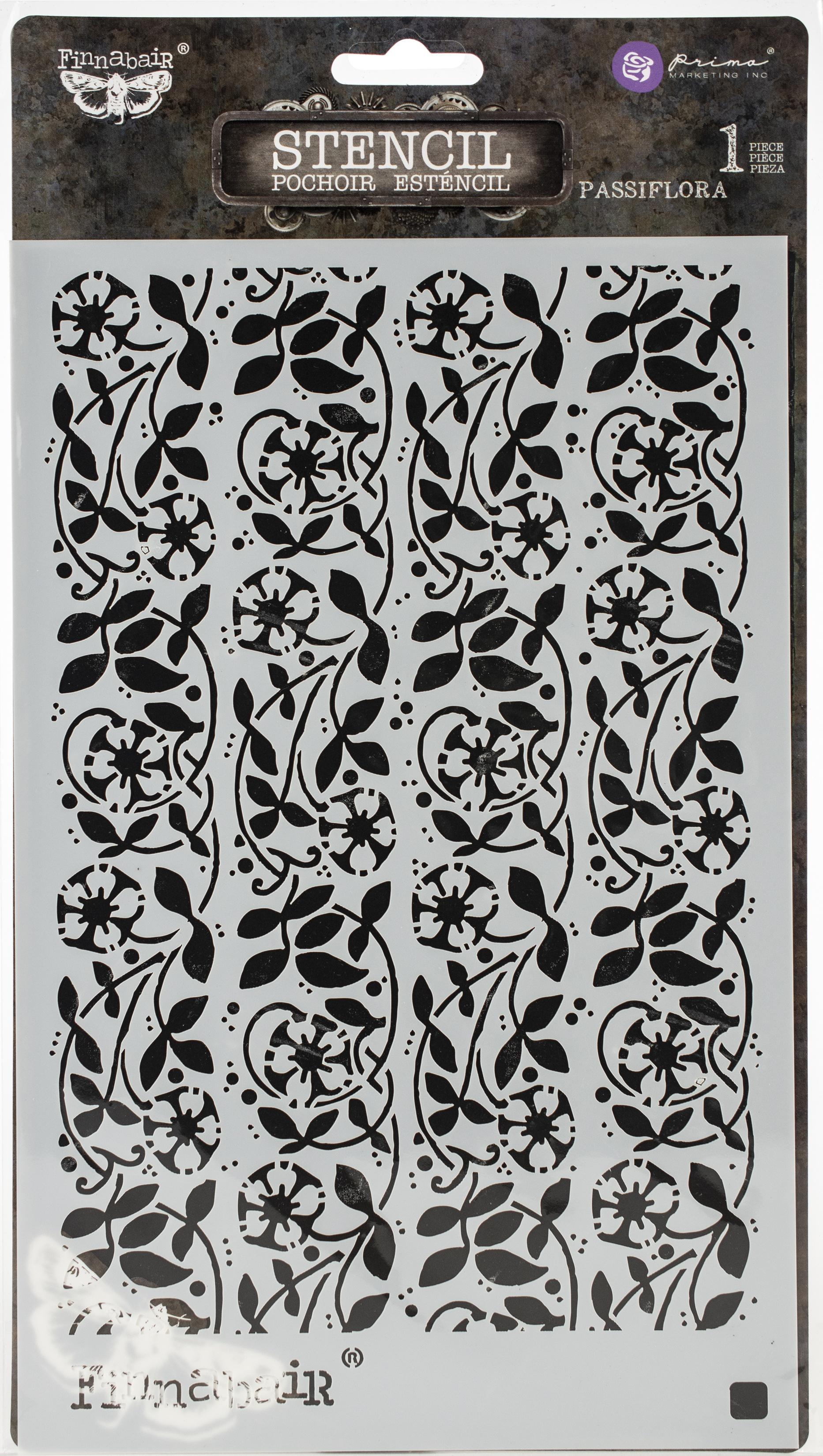 Passiflora Stencil 6X9