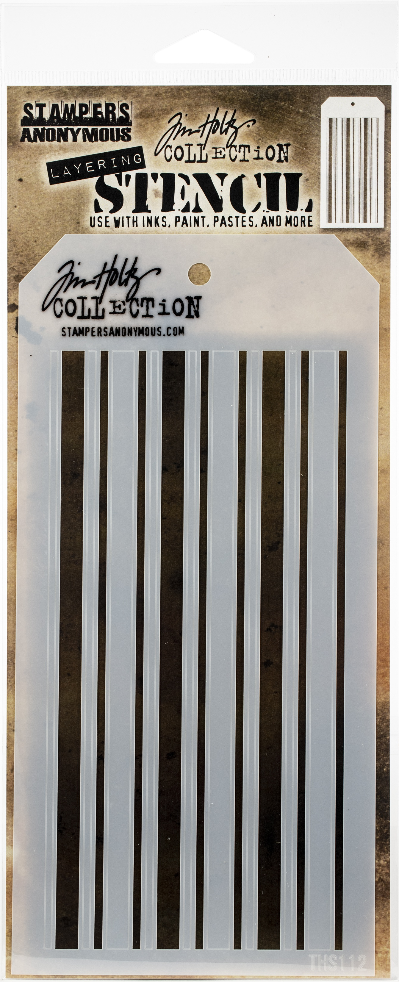 Tim Holtz Layered Stencil 4.125X8.5-Shifter Mint