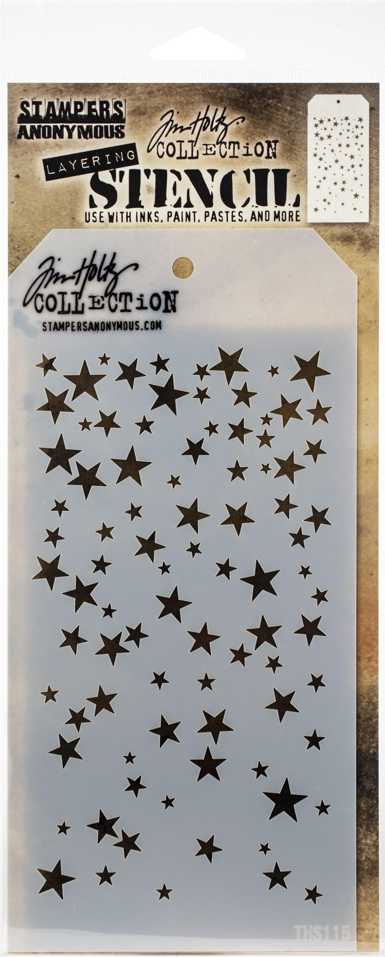 Tim Holtz - Falling Stars Layering Stencil