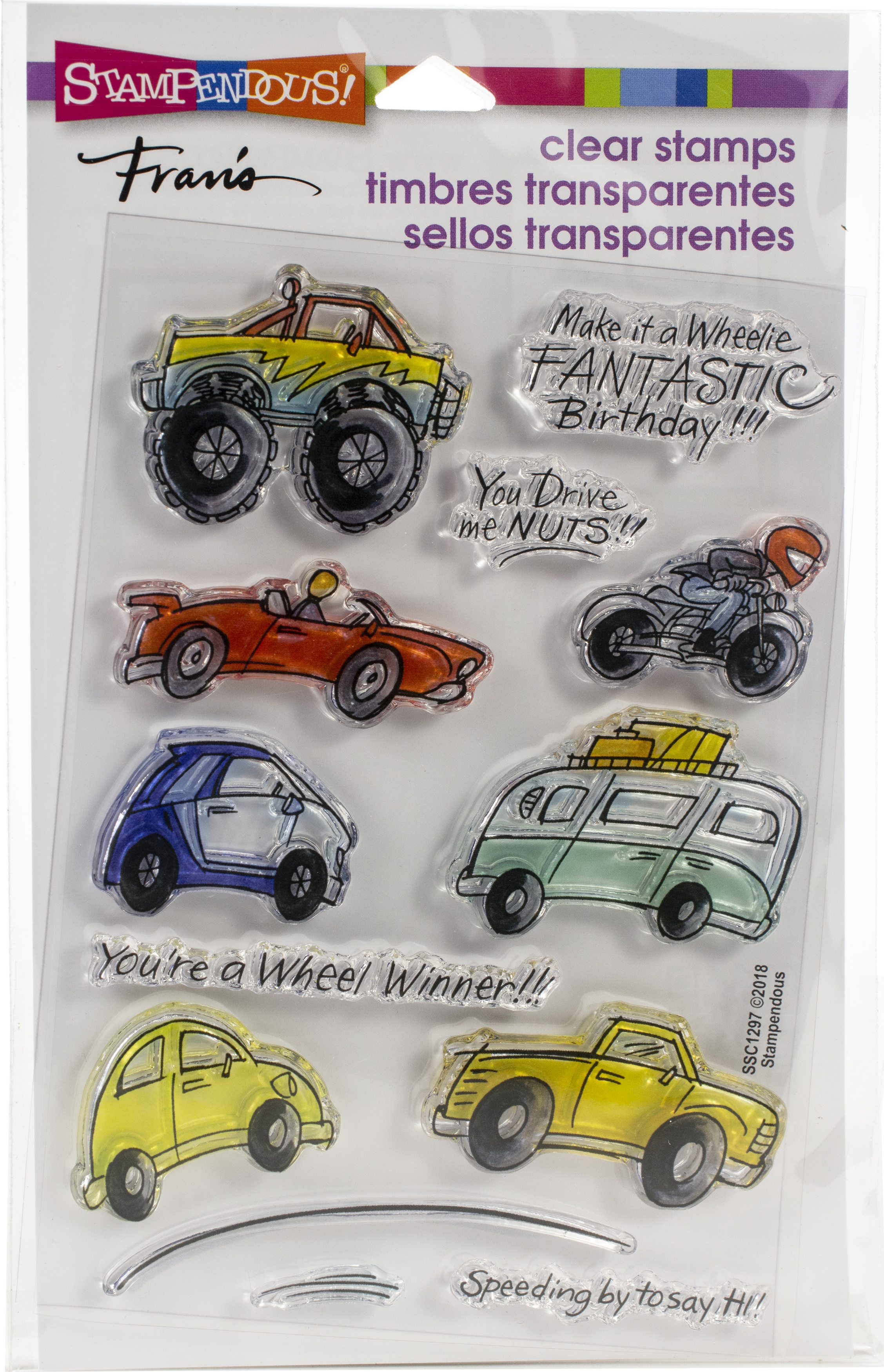 Stampendous Perfectly Clear Stamps-Wheels