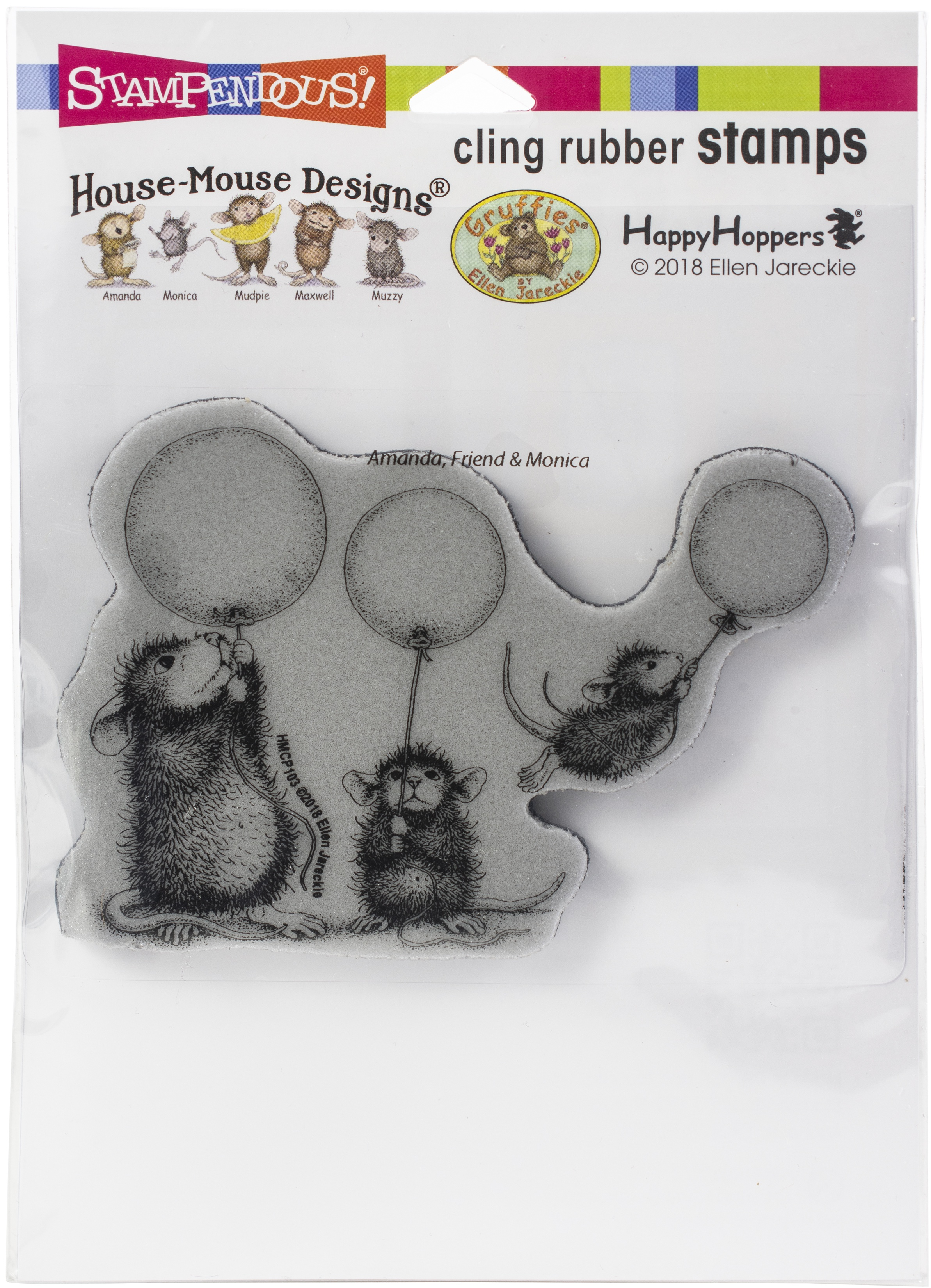 Stampendous House Mouse Cling Stamp-Balloon Fun
