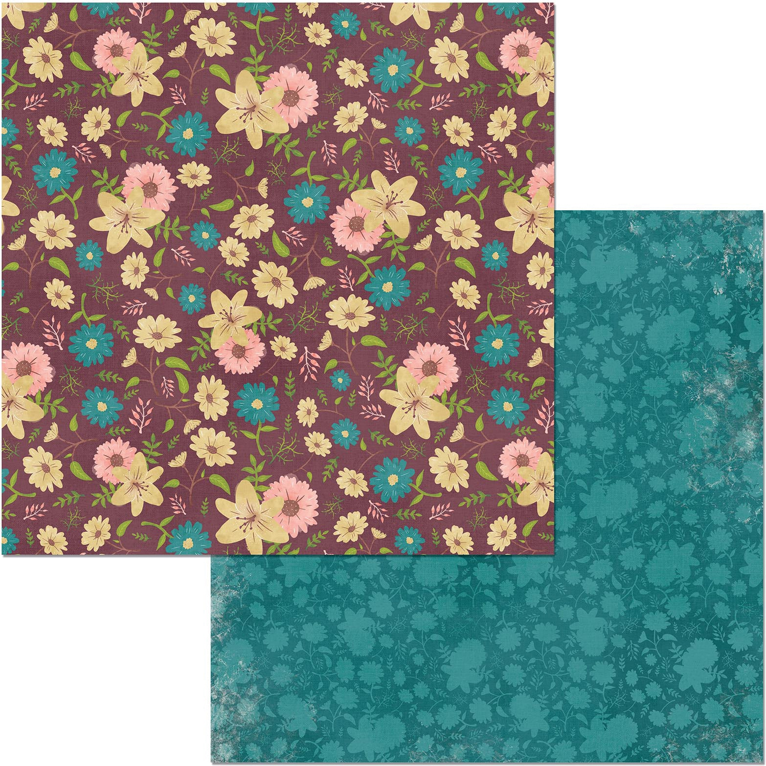 ^Floral Spice 12x12 Double-Sided Paper - Floral Spice (Bo Bunny)