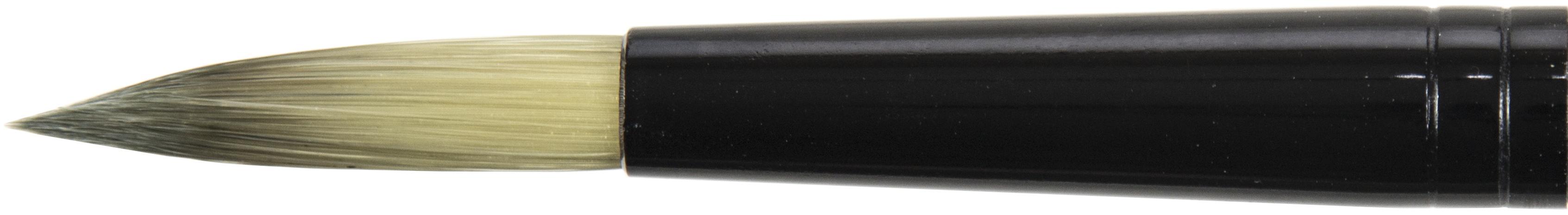 Black Silver Short Handle Brush-Round, Size: 10