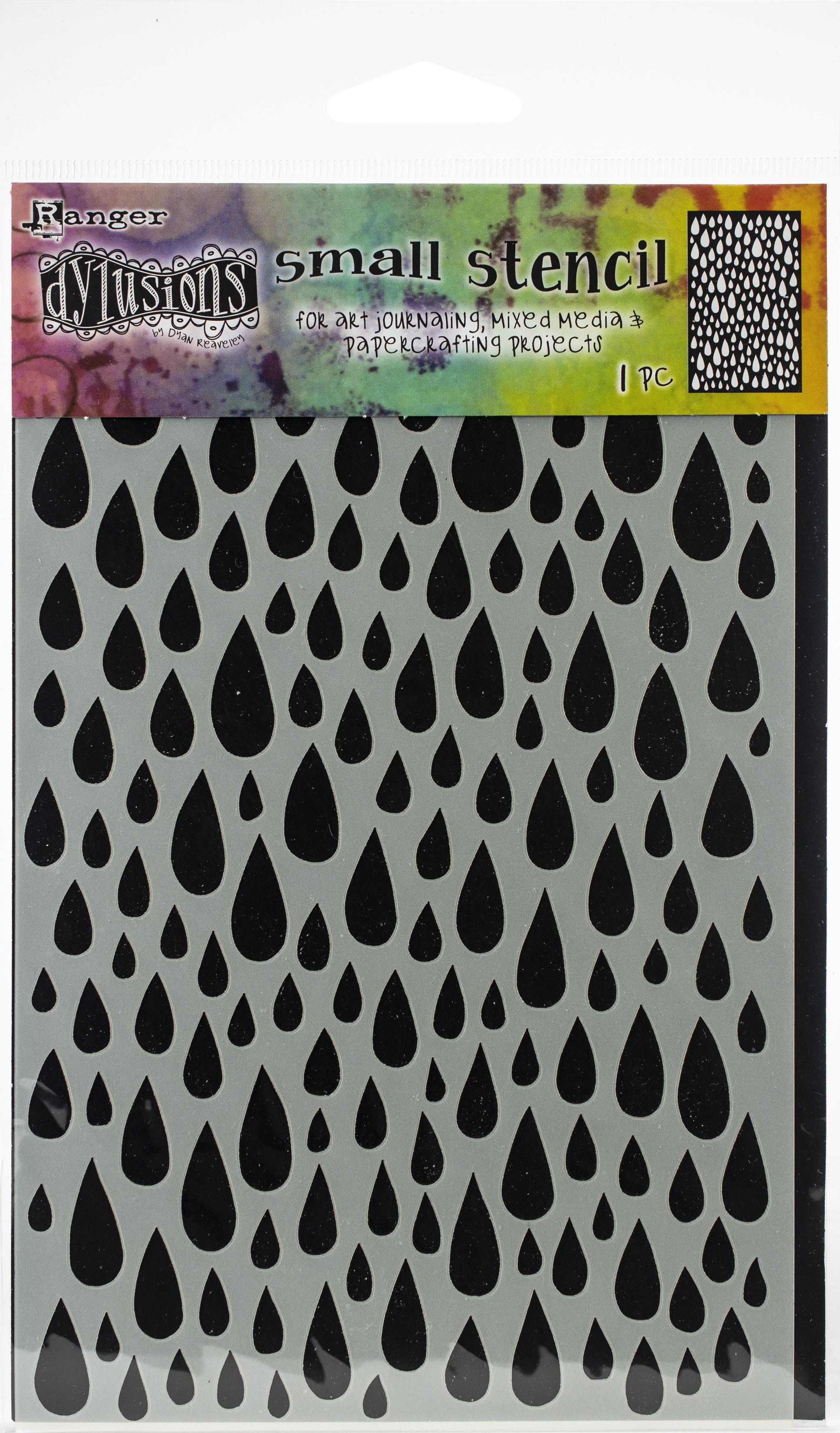 Dyan Reaveley's Dylusions Stencils 5X8-Teardrops