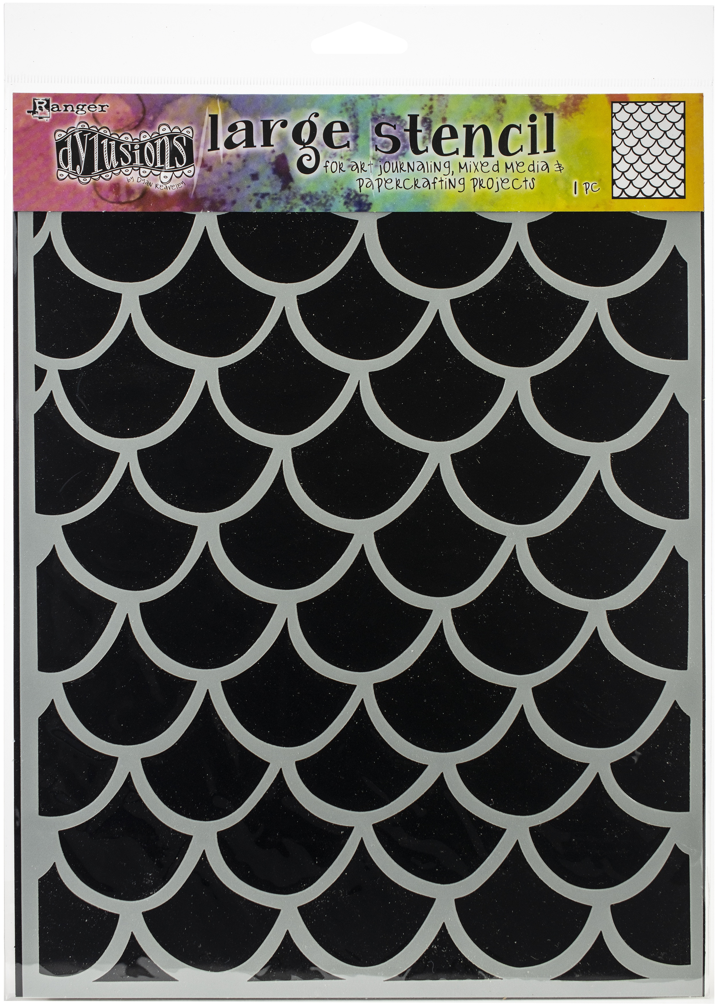 Dyan Reaveley's Dylusions Stencils 9X12-Fishtails