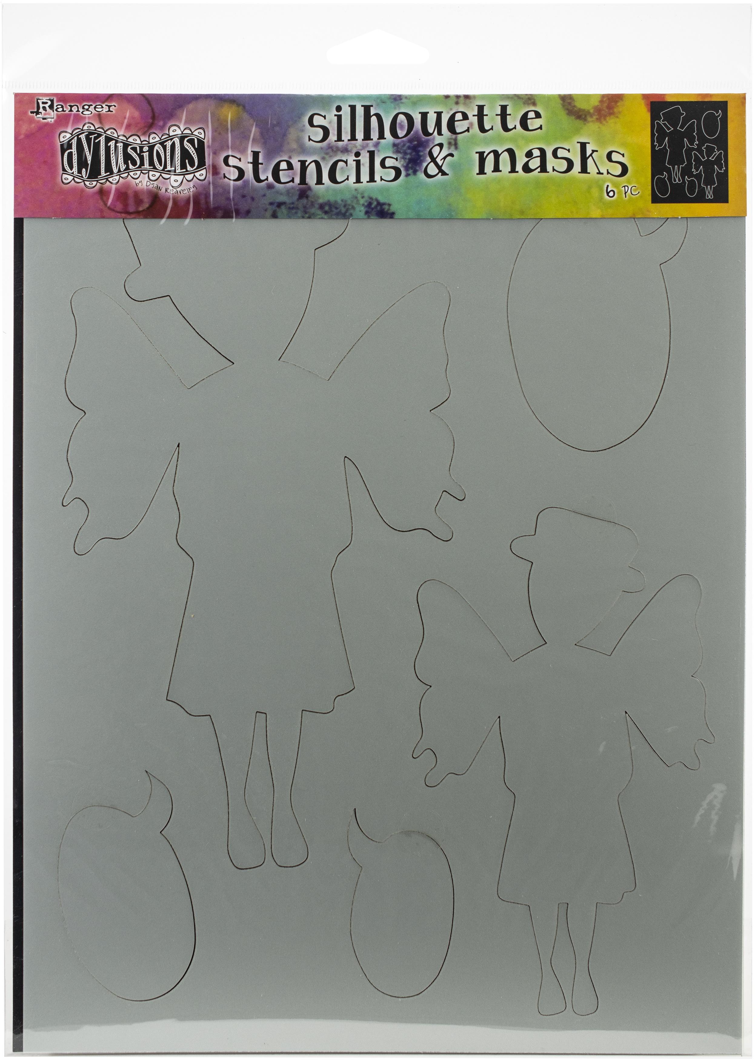 Dyan Reaveley's Dylusions Stencils 9X12-Maureen