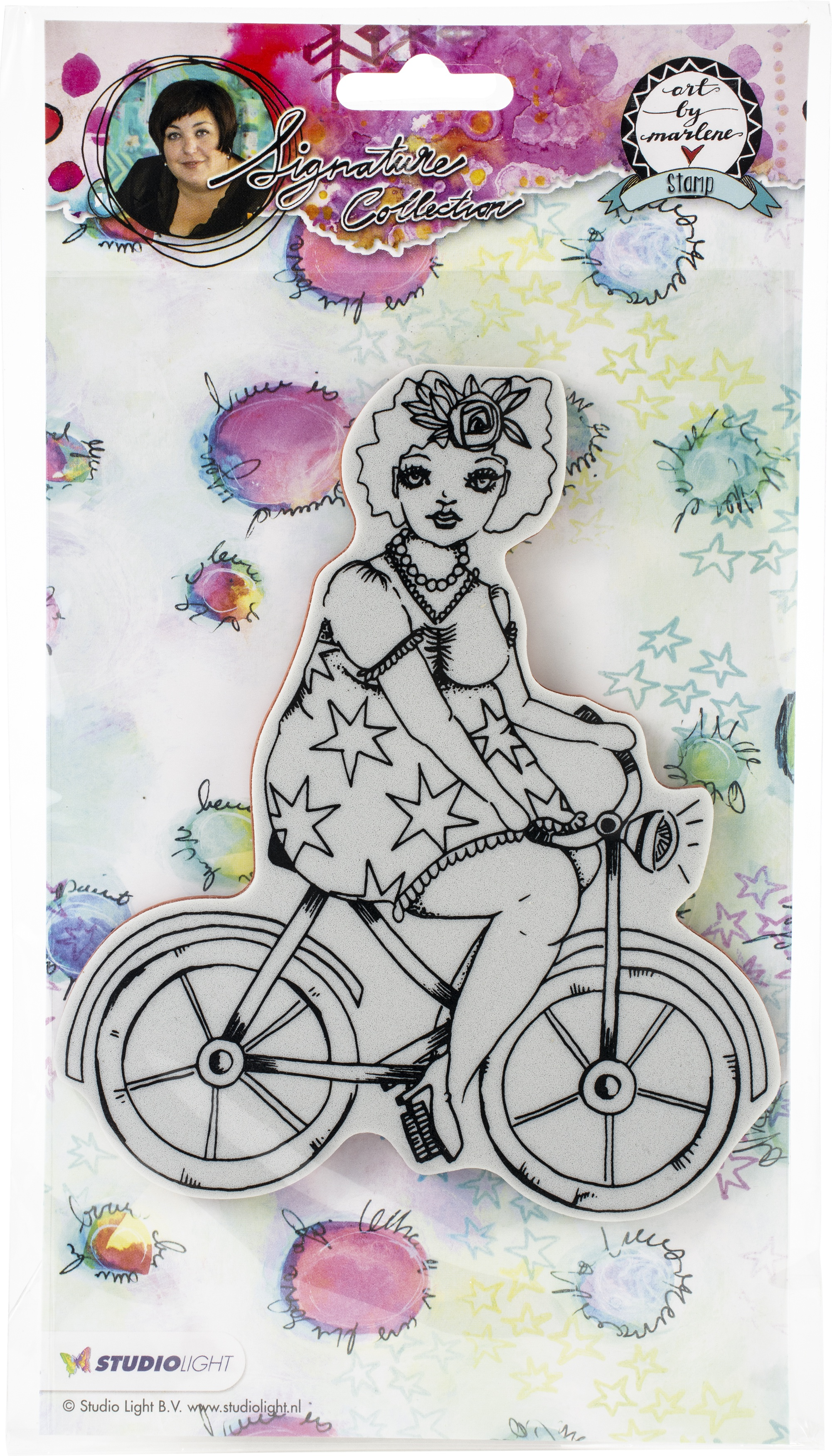 Studio Light Art By Marlene 2.0 Chubby Chicks Cling Stamp-On a Bike