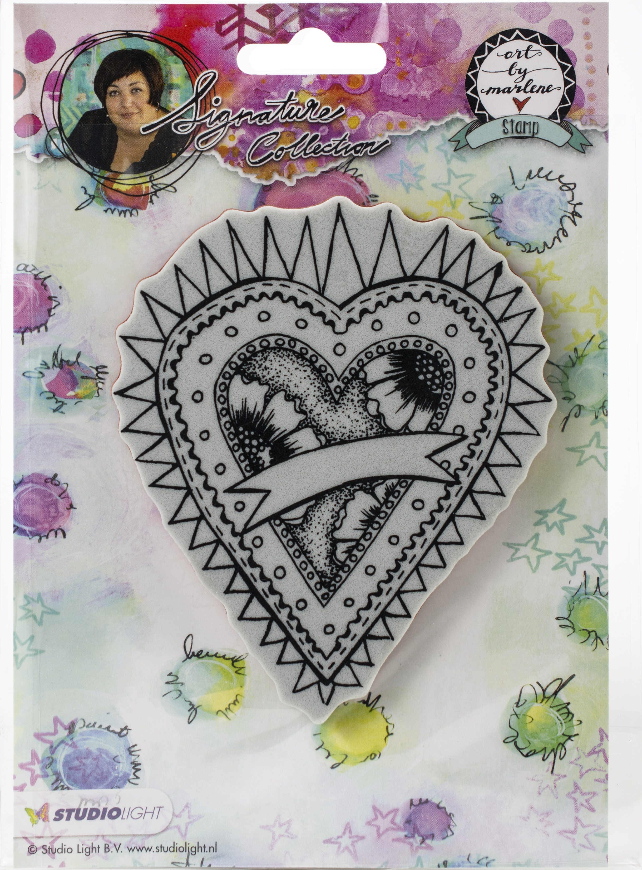 Studio Light Art By Marlene 2.0 Hearts Cling Stamp-